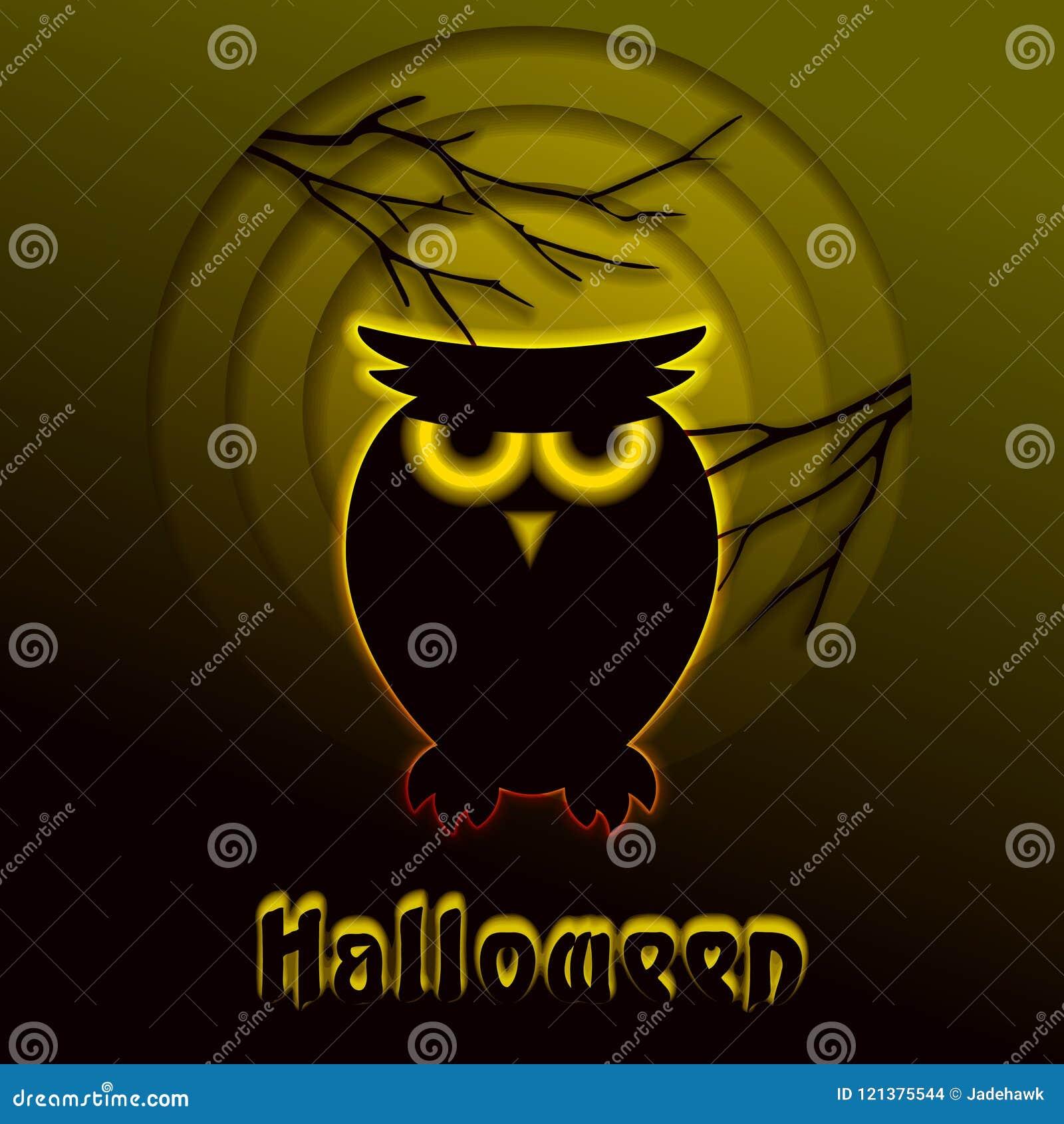 Conception Rougeoyante De Halloween De Coupe De Papier De