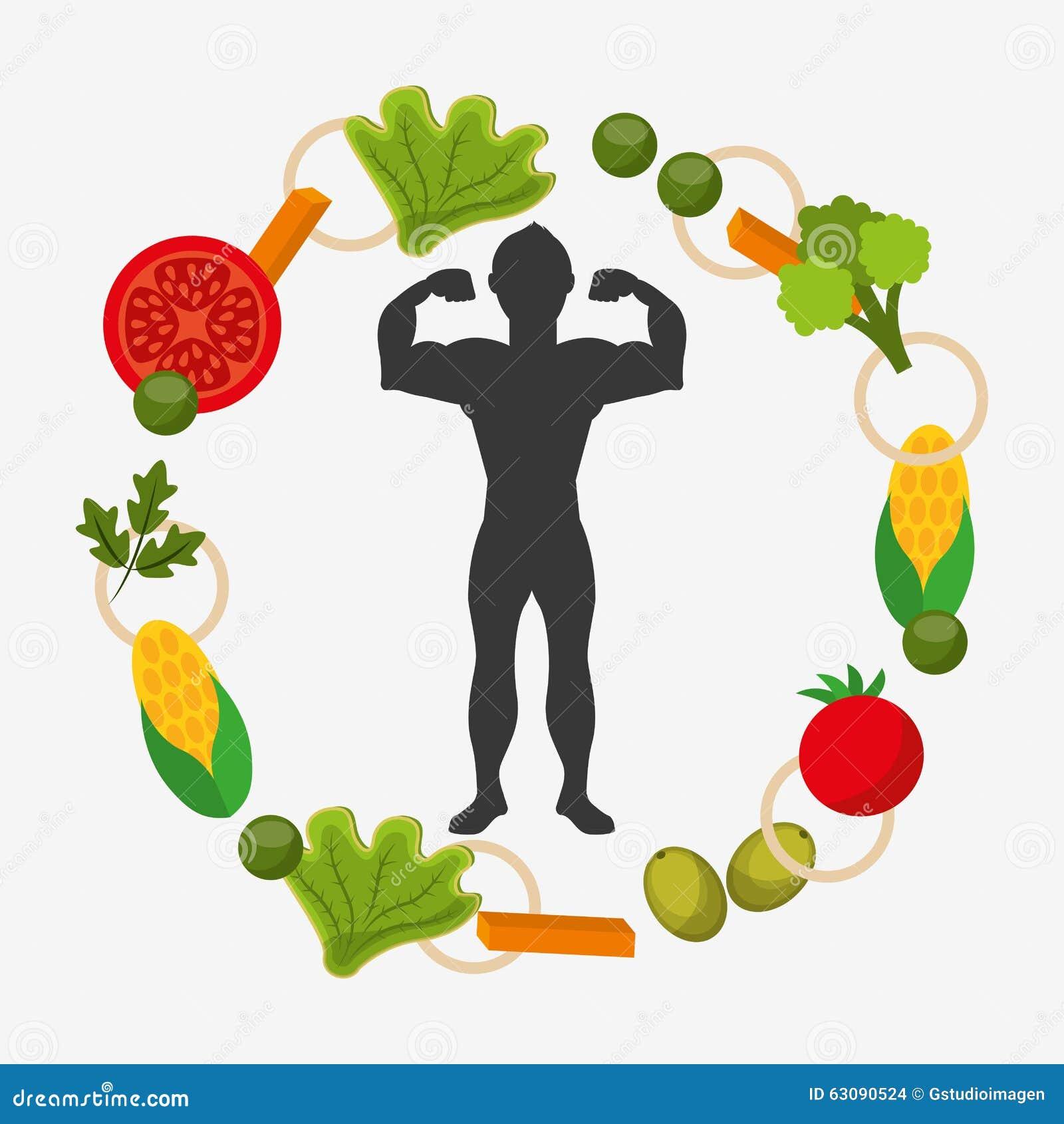 Download Conception Saine De Mode De Vie Illustration de Vecteur - Illustration du nourriture, concept: 63090524