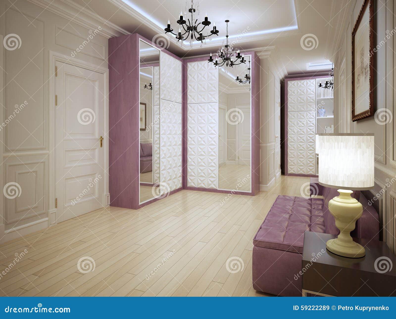 0193273e3cf2ae Conception Spacieuse D Art Nouveau D entrée Image stock - Image du ...