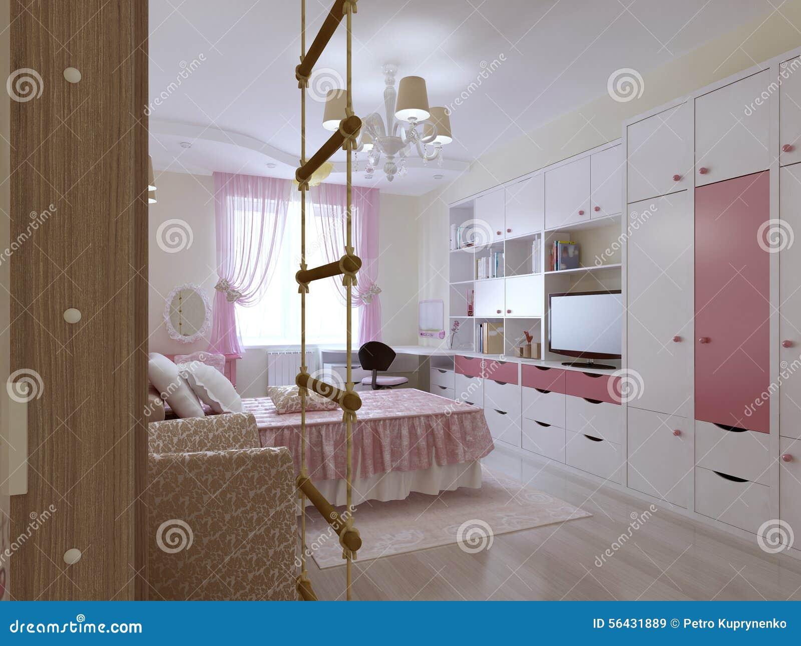 0f42ff5feec3fd Conception Spacieuse De Chambre à Coucher D adolescent Illustration ...