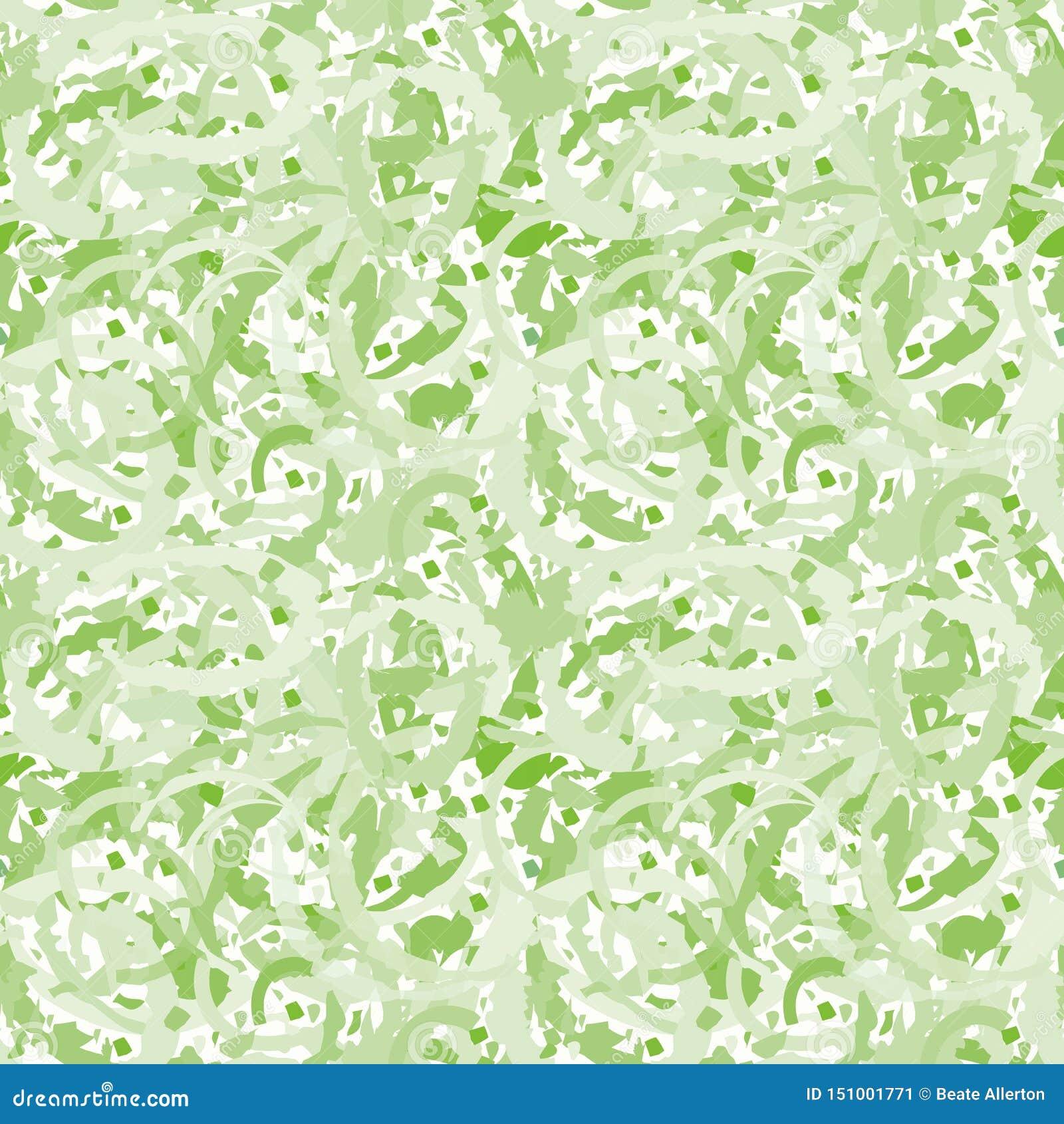 Conception transparente de sol de mosaïque de vert de résumé créant un effet de marbrure painterly Modèle sans couture de vecteur