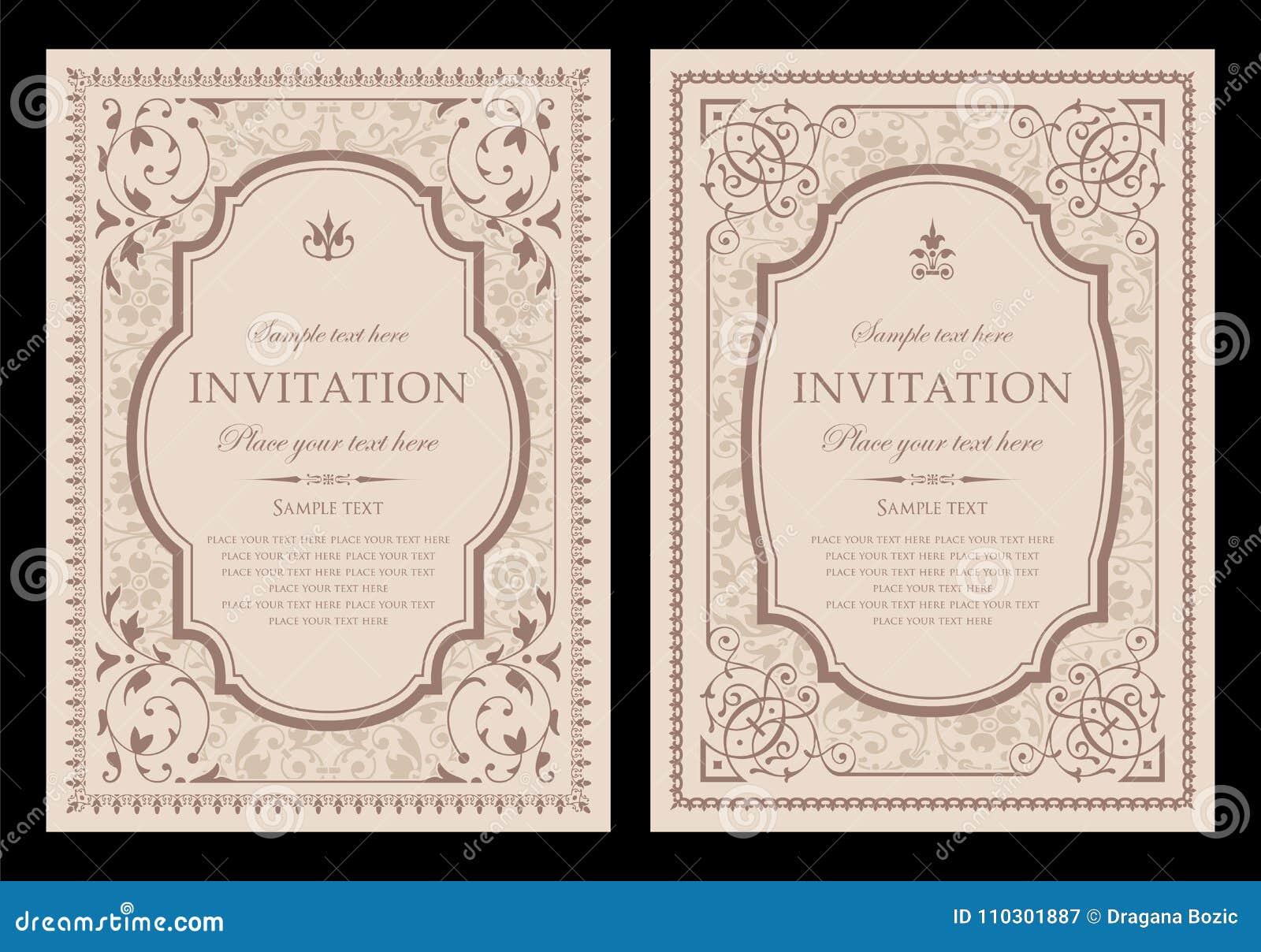Conception unique de carte d invitation - style de vintage