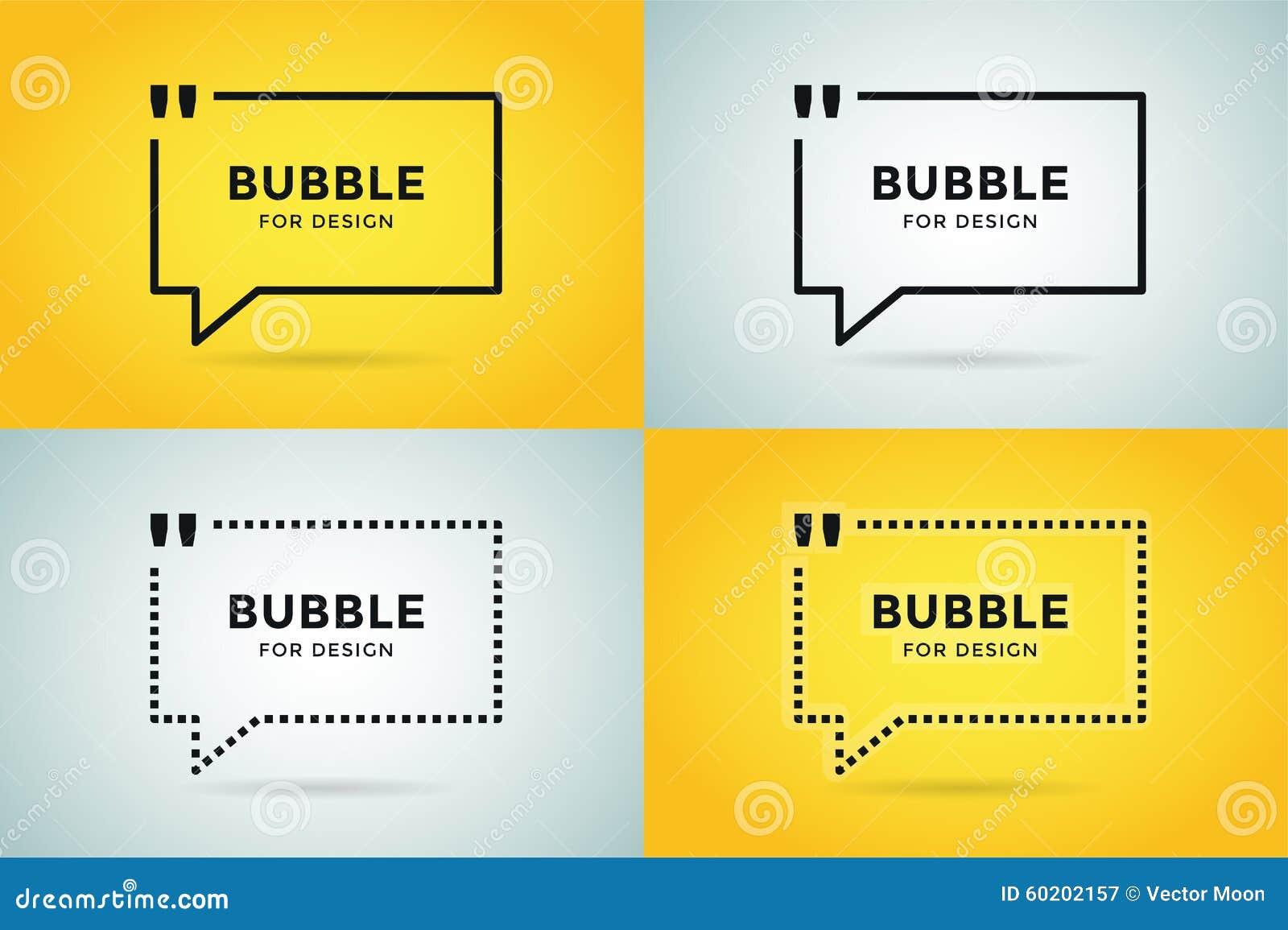 Conception vide de bulle vide de calibre de citation