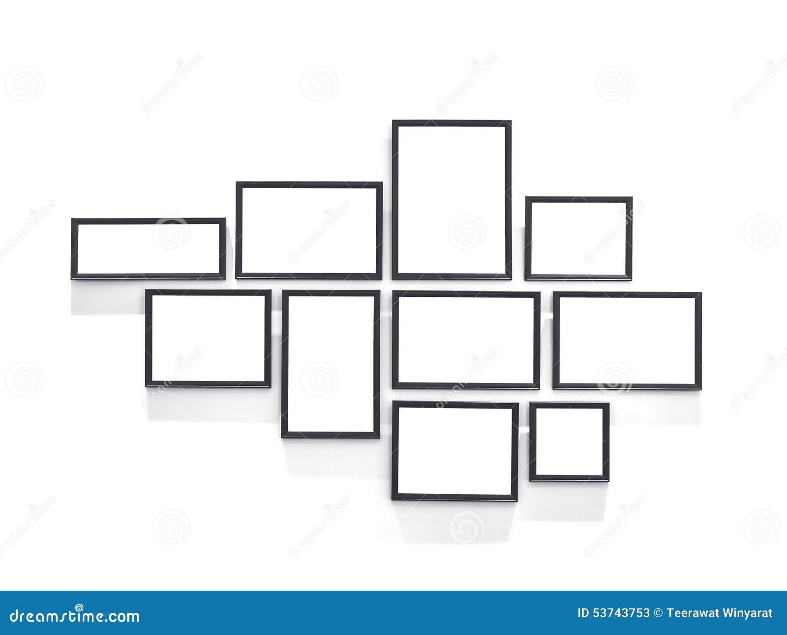 Conception vide de cadre de tableau dans le calibre de - Tableau sur mur blanc ...