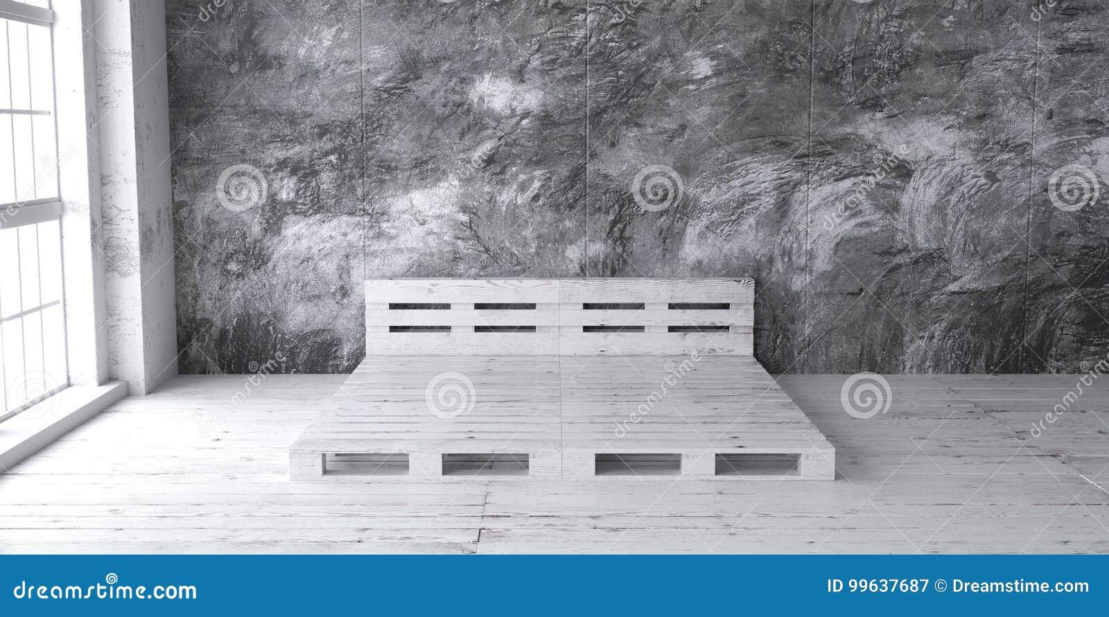 Conceptions De Cadre De Lit De Palette Pour Lintérieur De Grenier - Cadre de lit palette