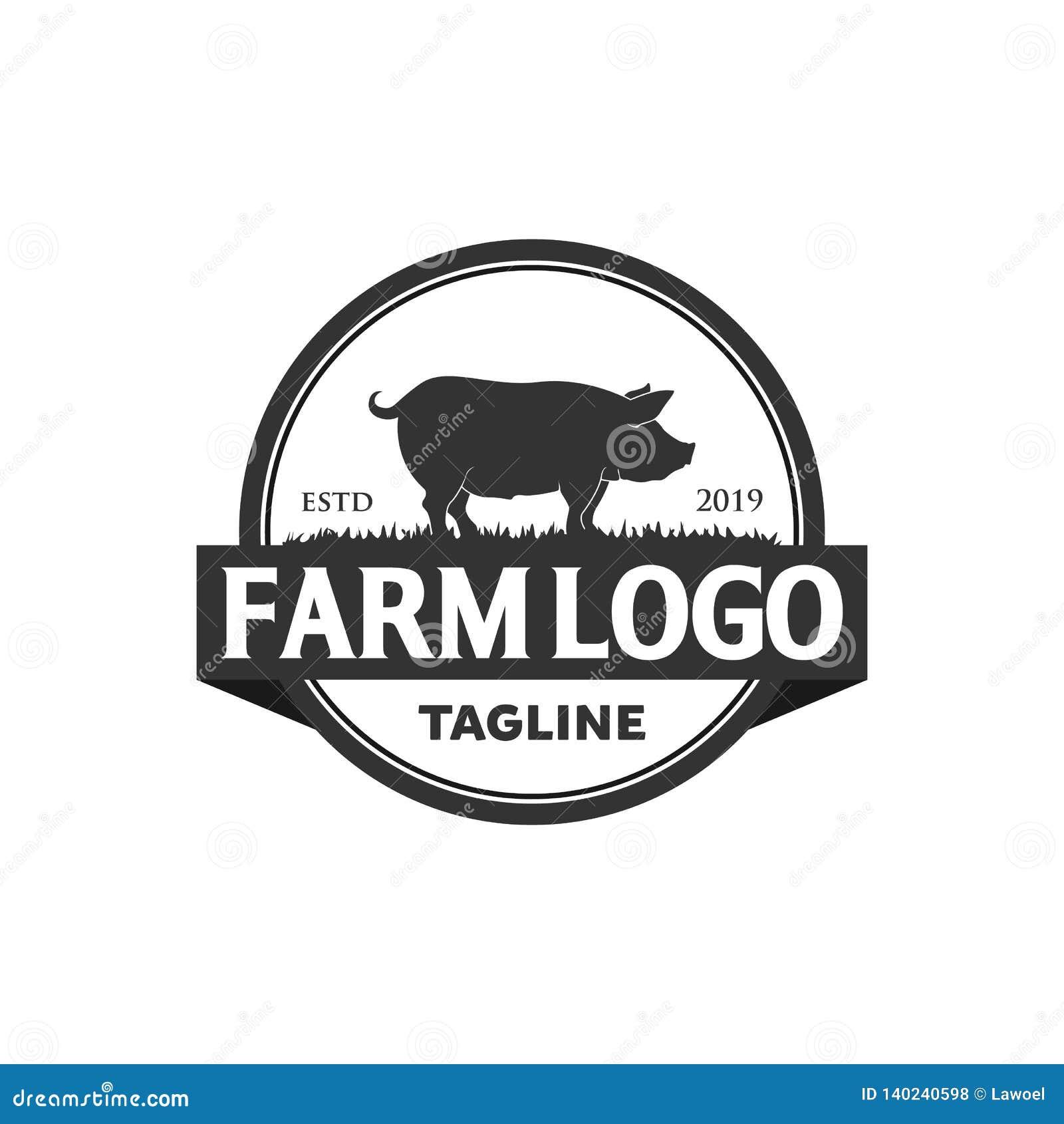 Conceptions de logo de porc
