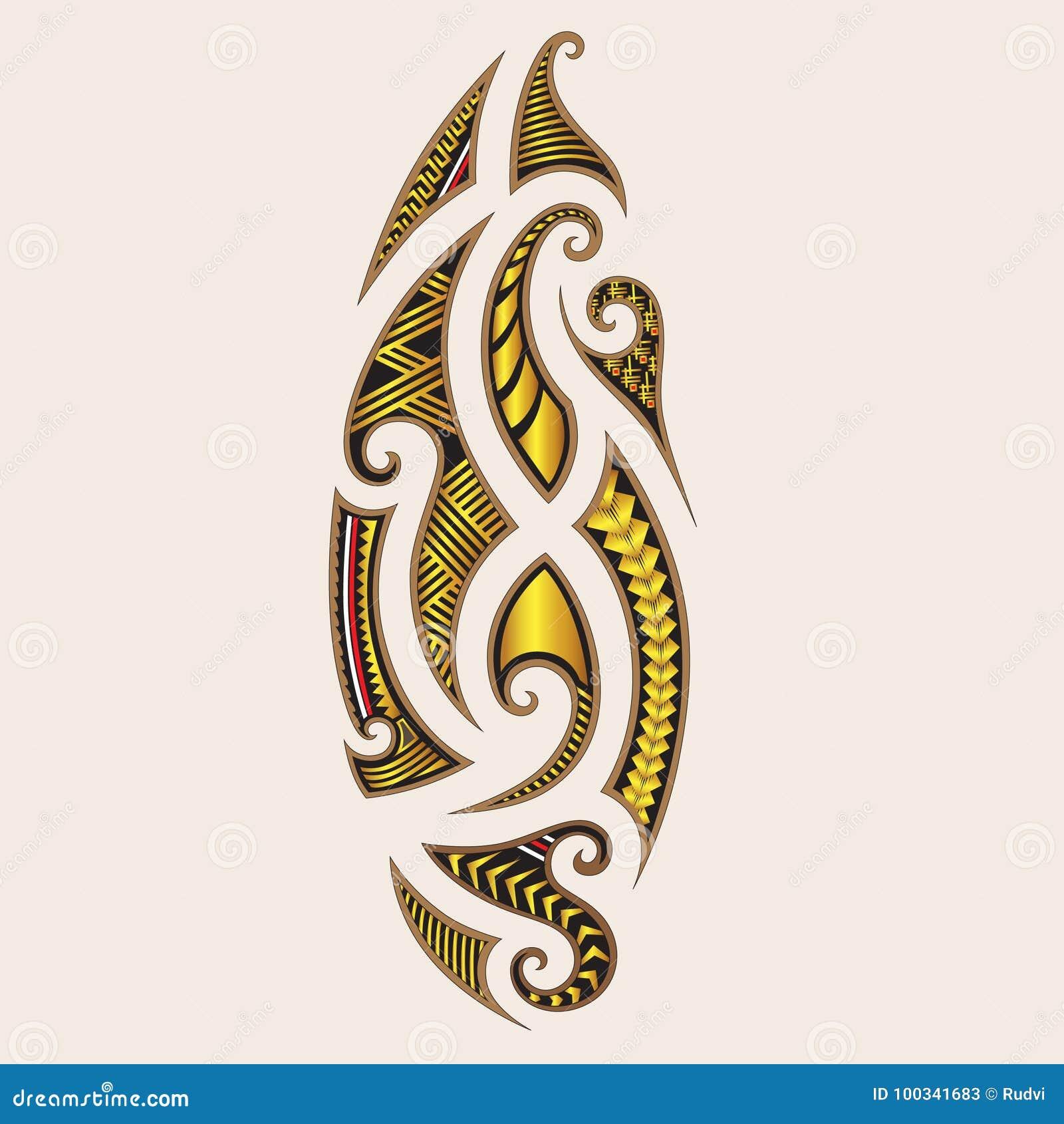 Conceptions Tribales D Art De Tatouage Style Maori Illustration De