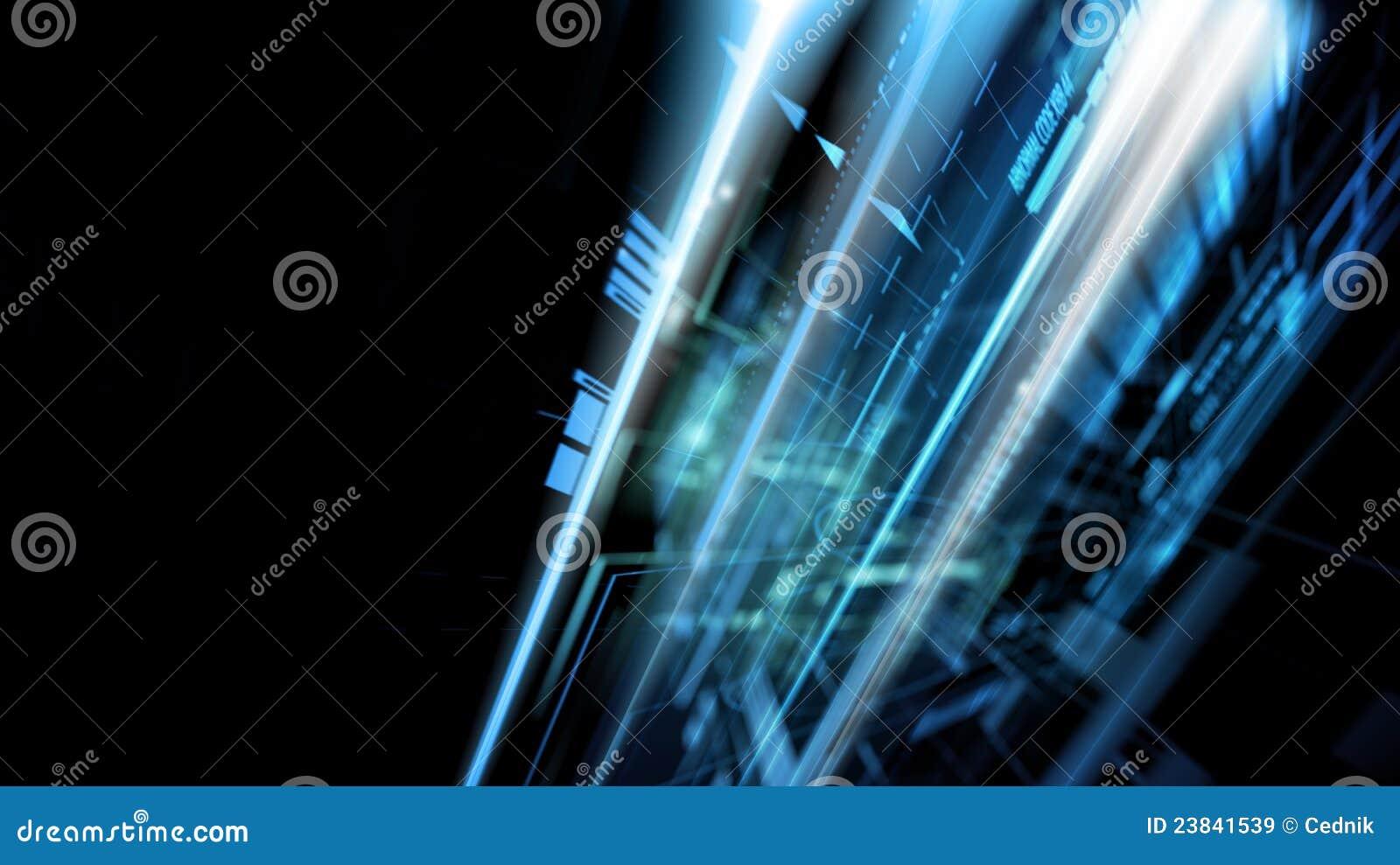 Concepto abstracto de la tecnología compleja