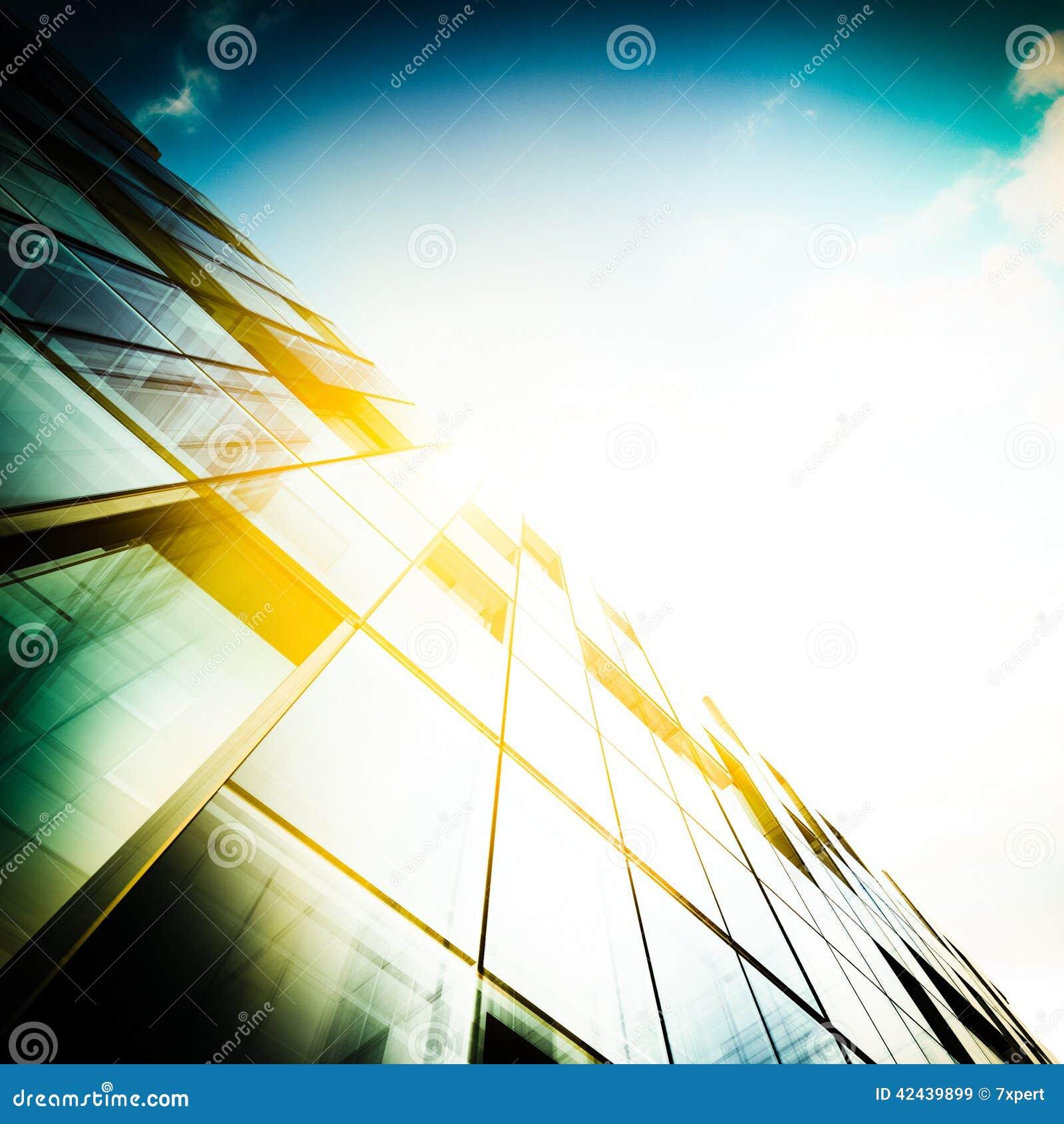 Concepto abstracto del rascacielos
