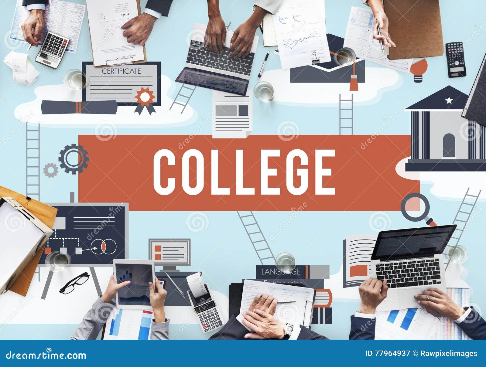 Concepto académico de la institución de la educación del collage