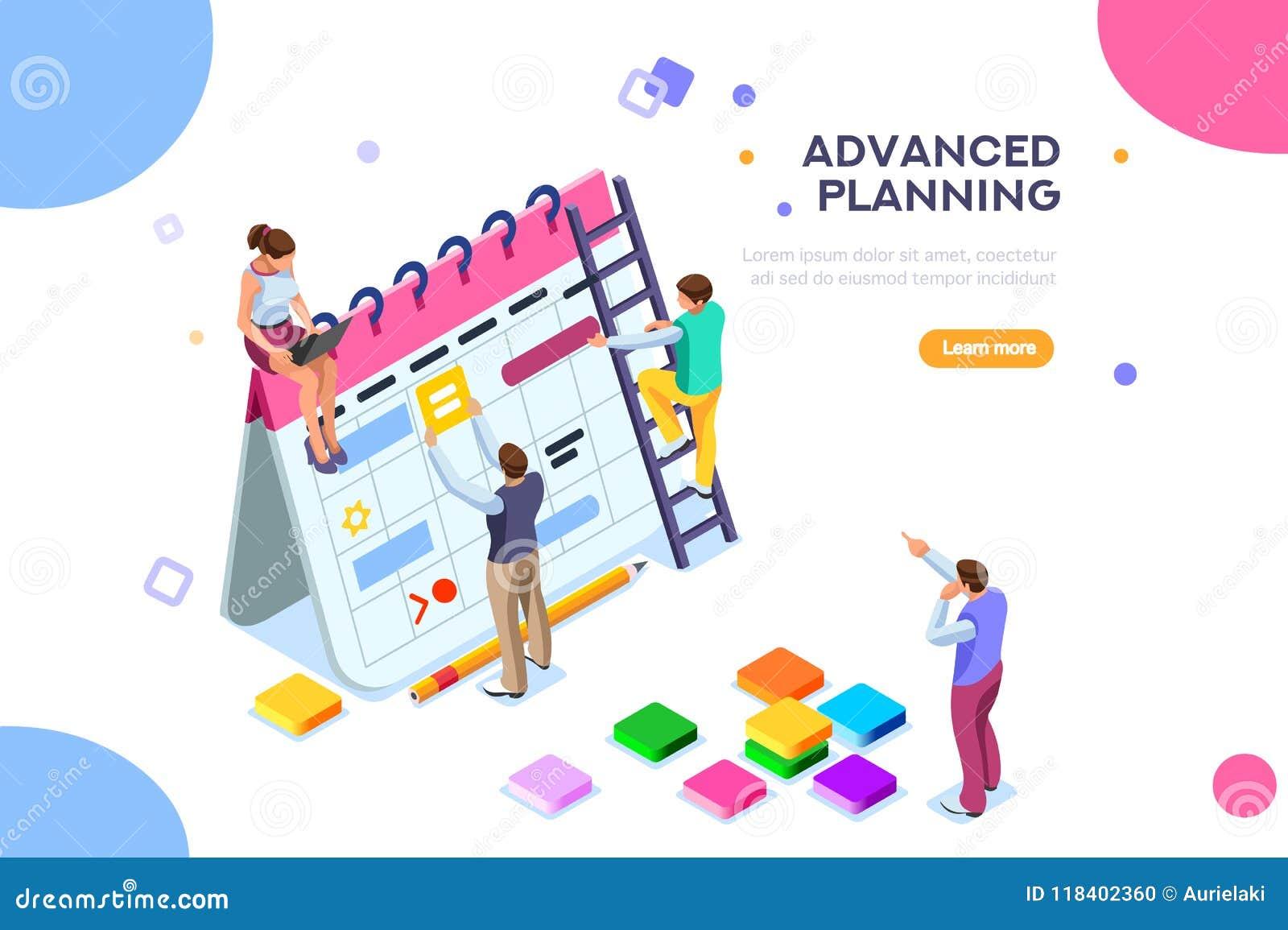 Concepto aislado o planificador del horario