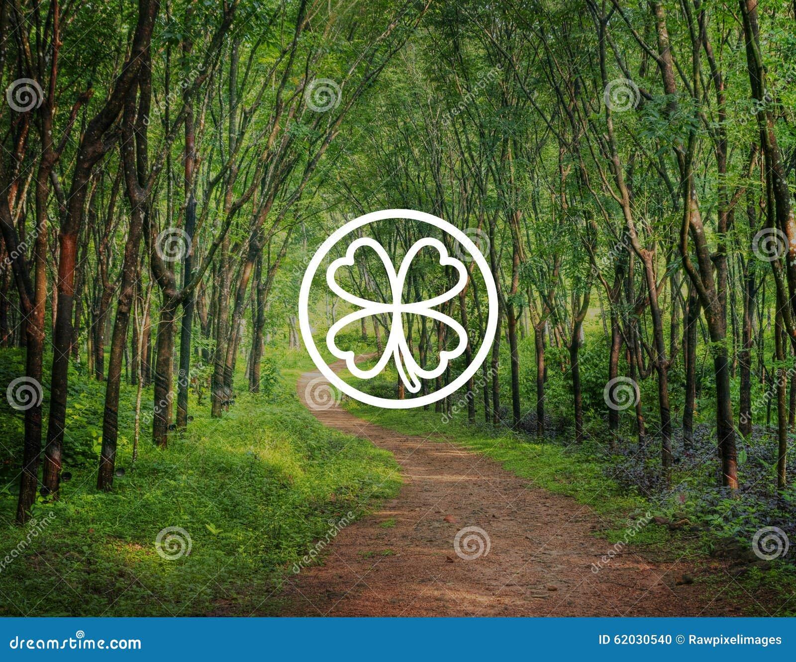 Concepto ambiental de la inspiración de la hoja verde del trébol