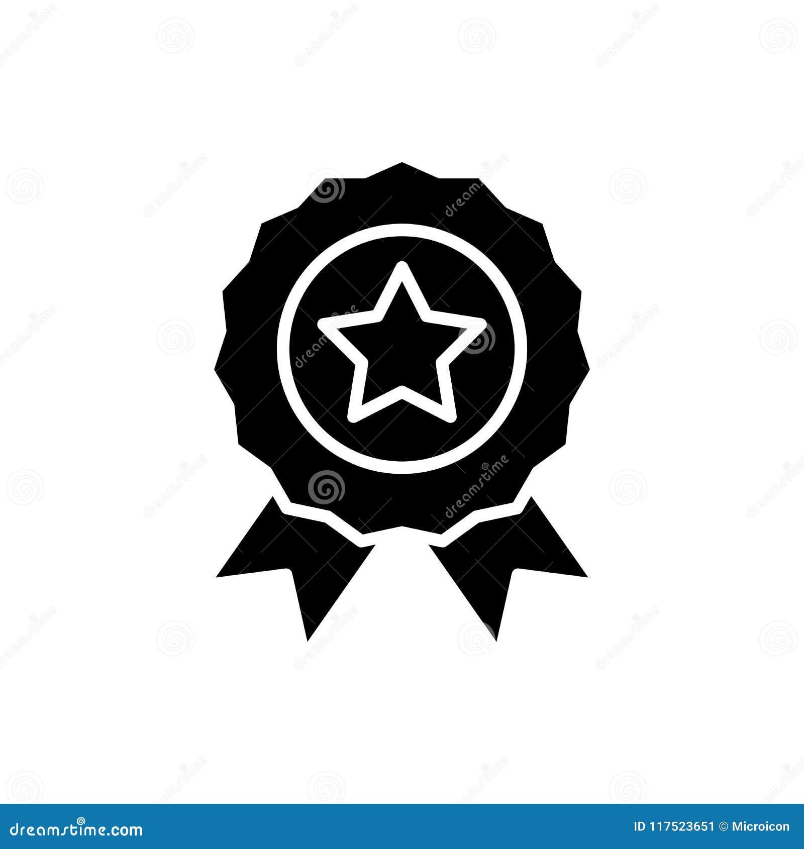 Concepto asignado del icono del negro de la recompensa Recompensa asignada símbolo plano del vector, muestra, ejemplo