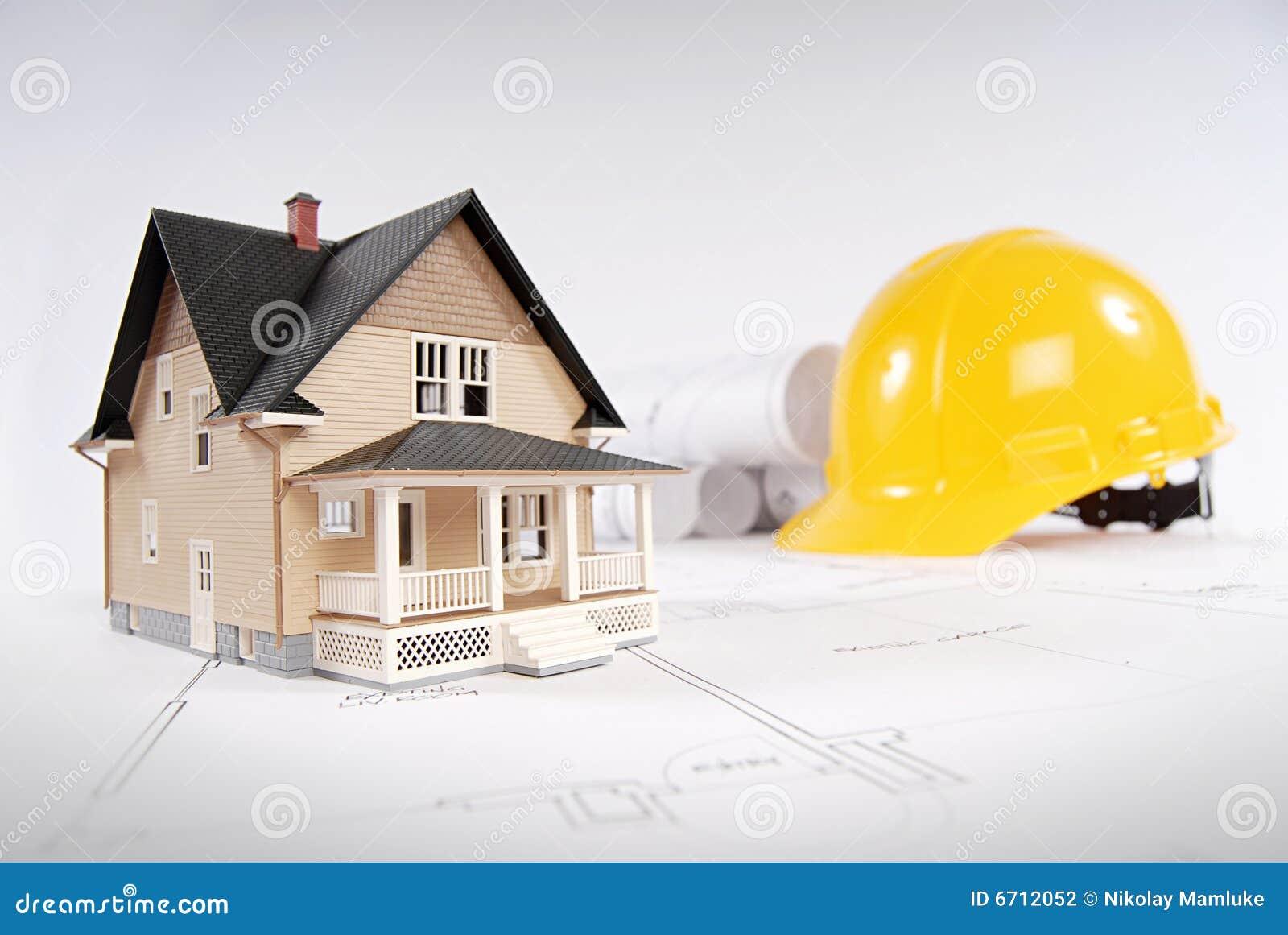 Concepto casero de la construcción