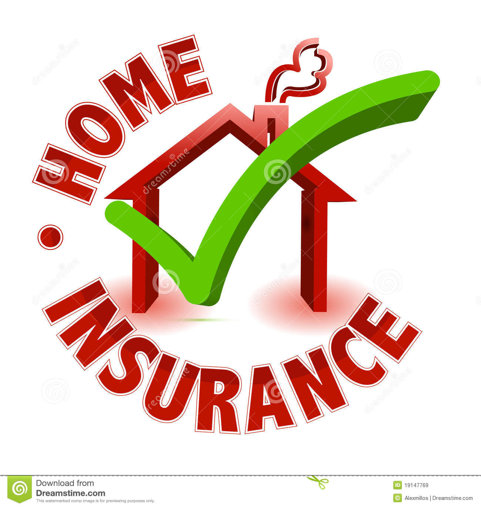 Concepto casero del seguro