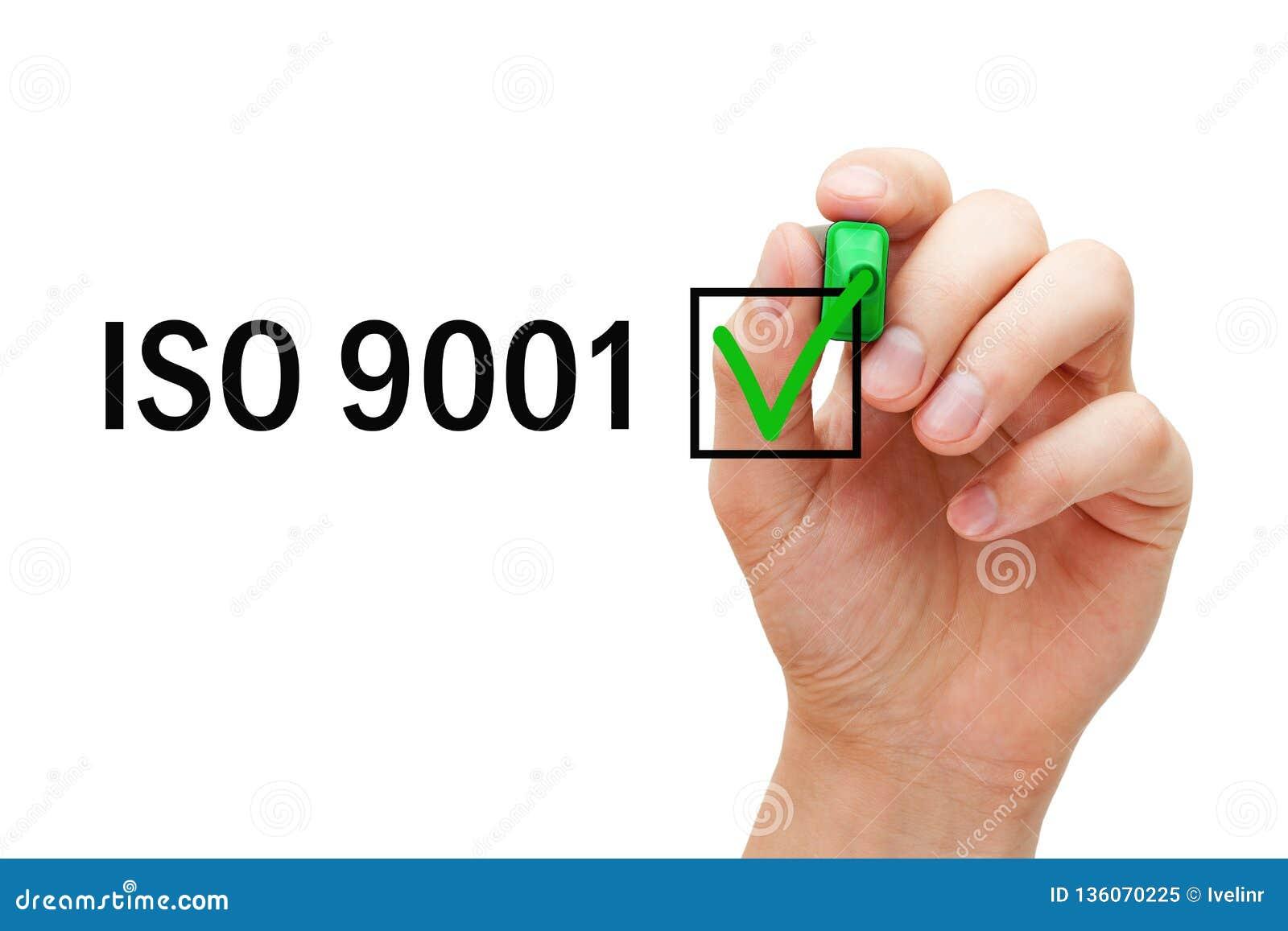 Concepto certificado sistema de gestión de la calidad del ISO 9001