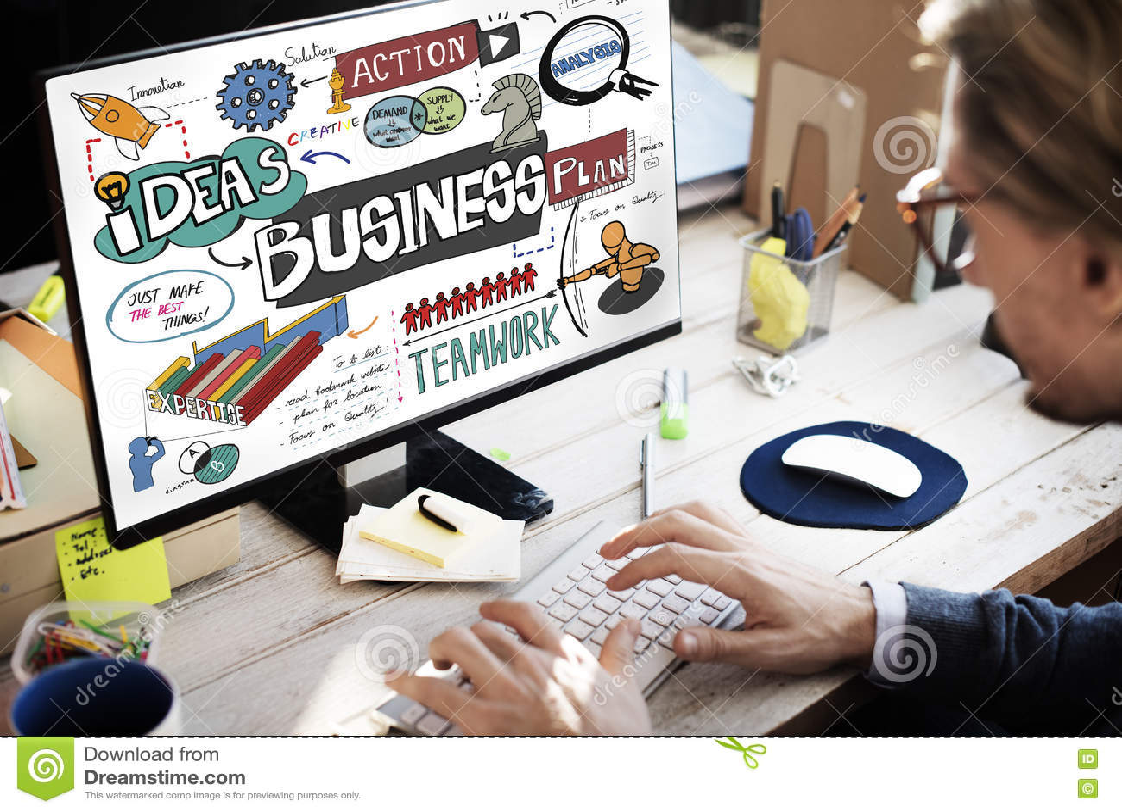 Concepto corporativo de la estrategia de análisis de la corporación