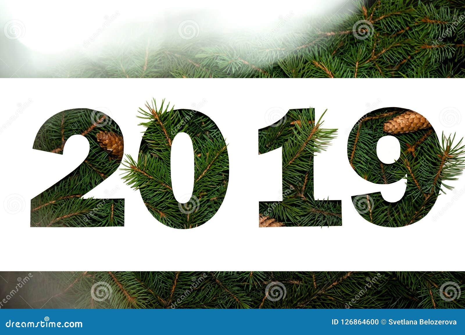 Concepto creativo de la naturaleza de Año Nuevo Composición mínima del día de fiesta Endecha del plano de la visión superior