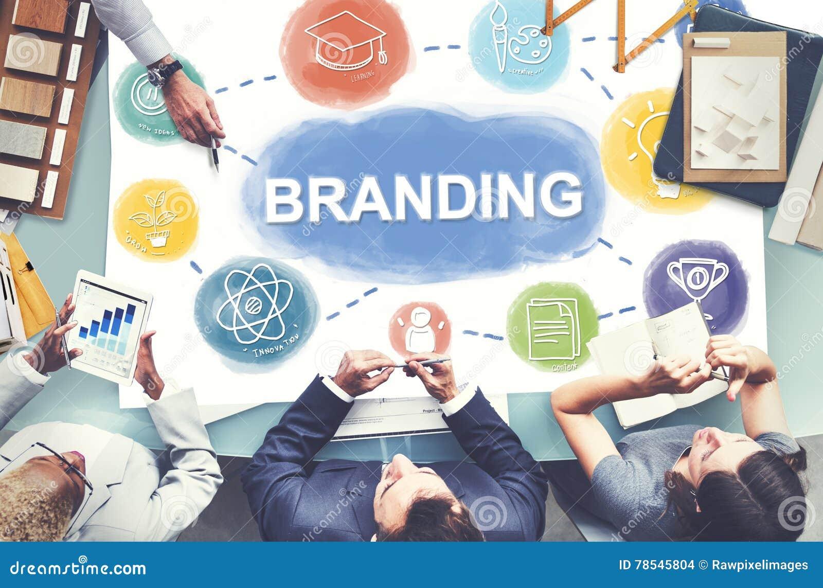 Concepto creativo de marcado en caliente del gráfico de negocio de la marca