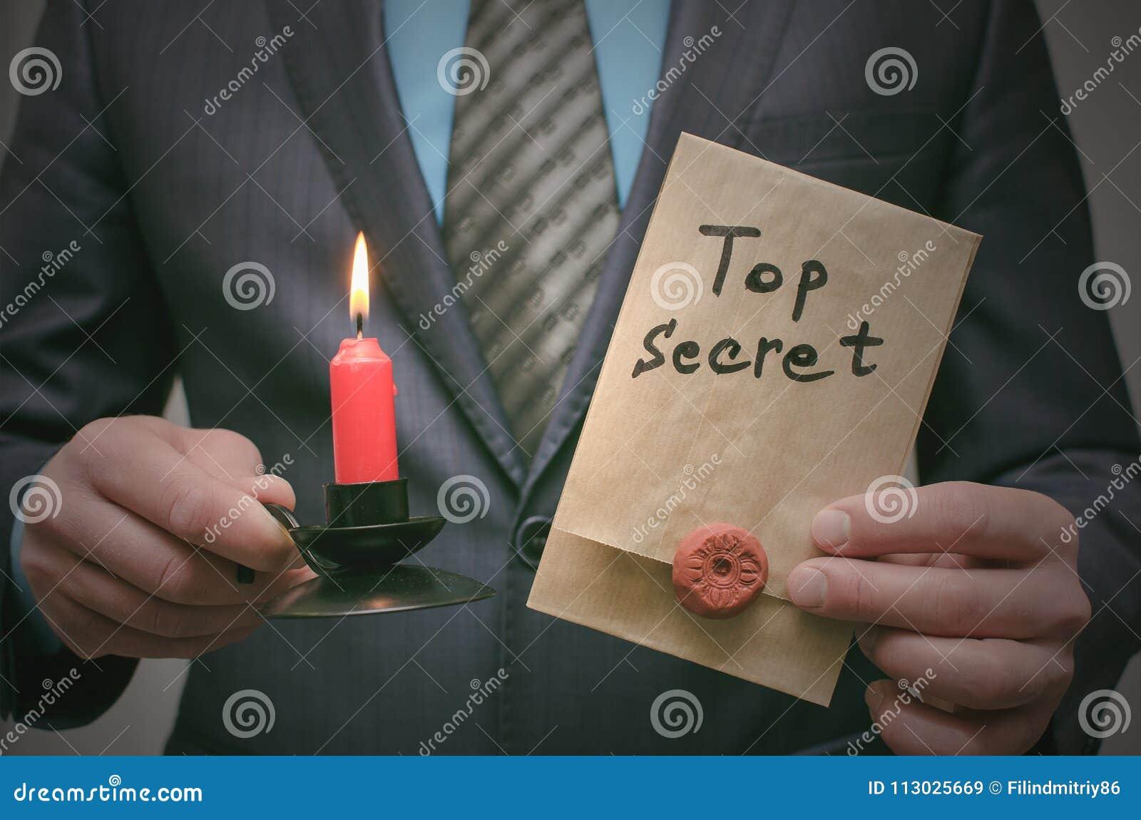 Concepto de alto secreto del mensaje Información importante estupenda Expediente confidencial