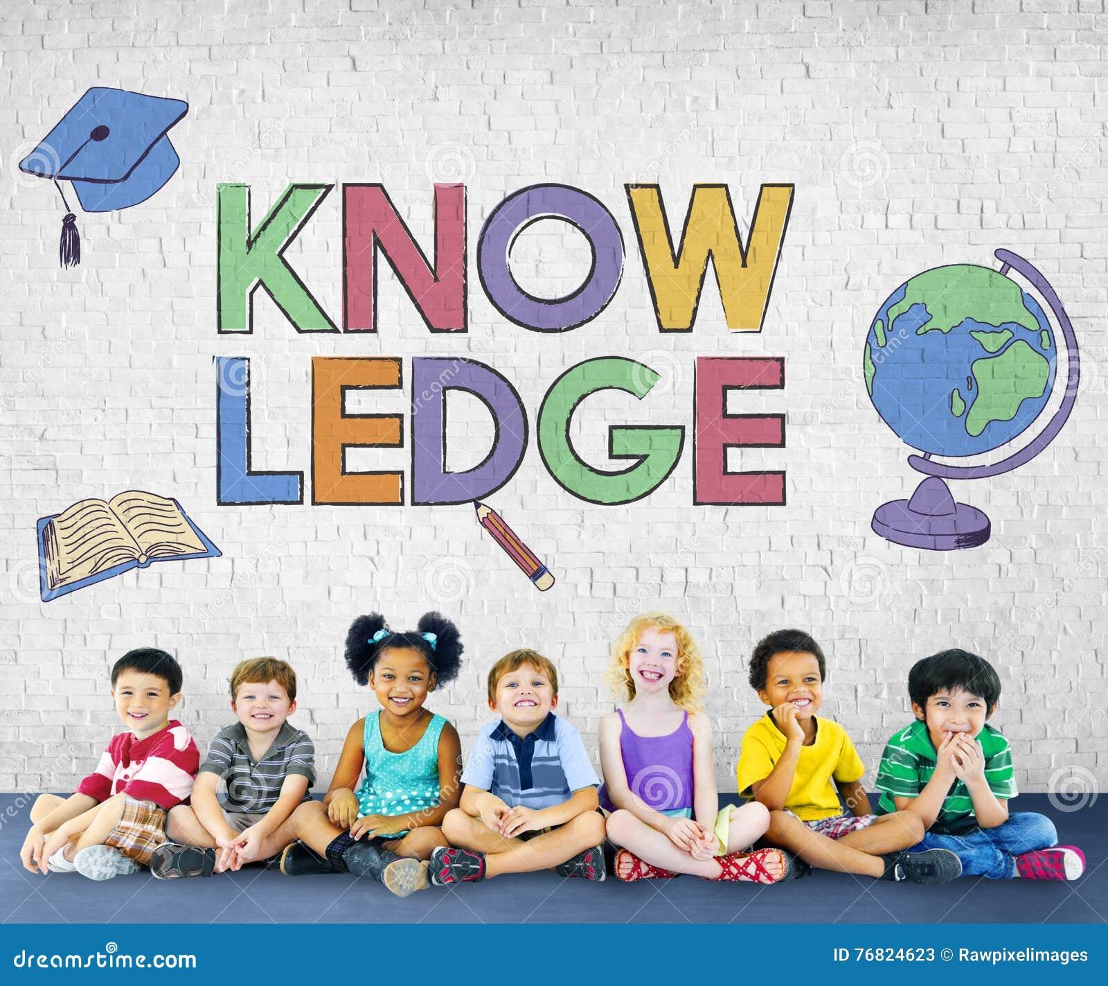 Concepto de aprendizaje académico del gráfico de los niños de la escuela