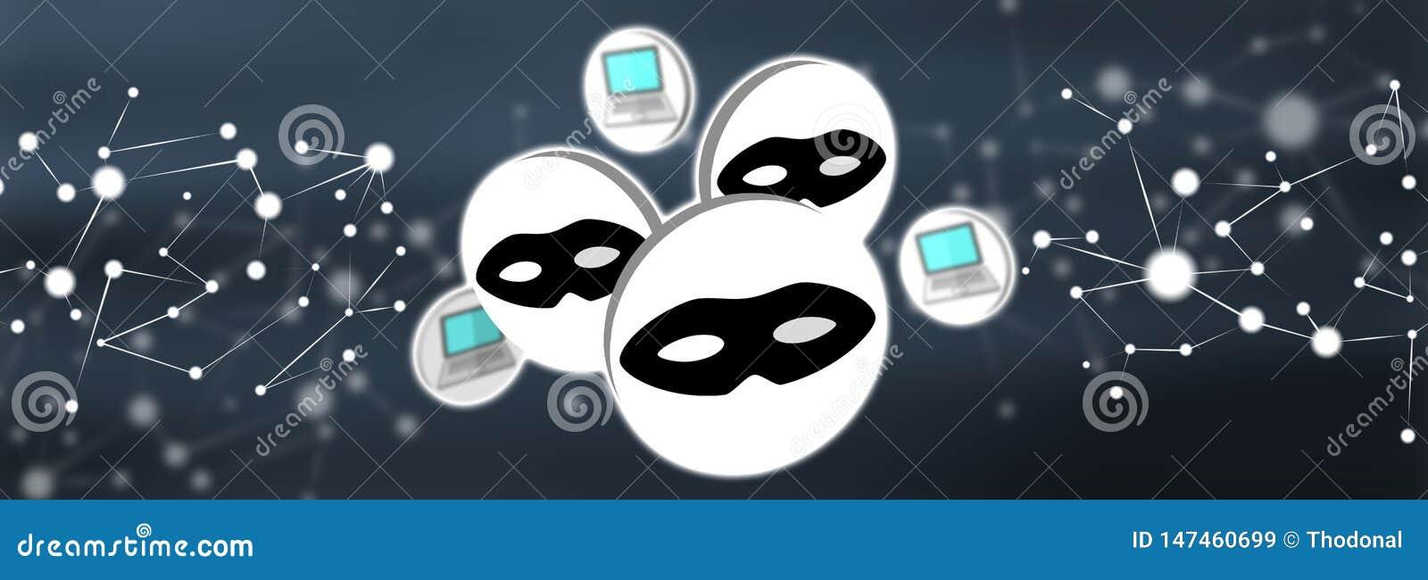 Concepto de ataque cibern?tico