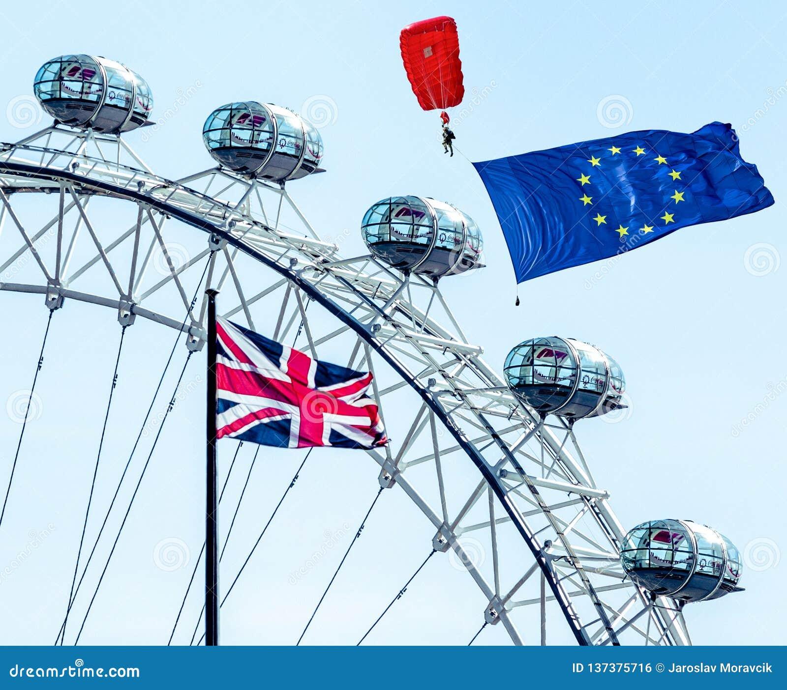 Concepto de Brexit en Londres