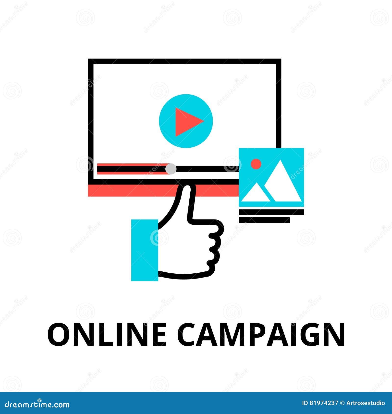 Concepto de campaña en línea