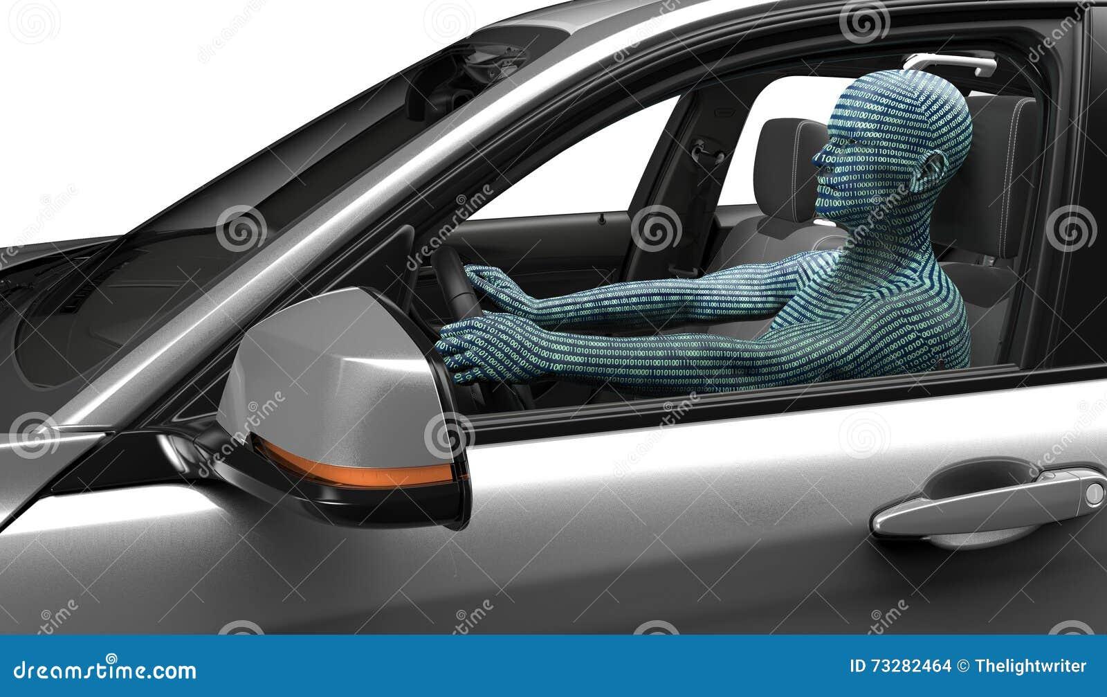 Concepto de coche de uno mismo-conducción