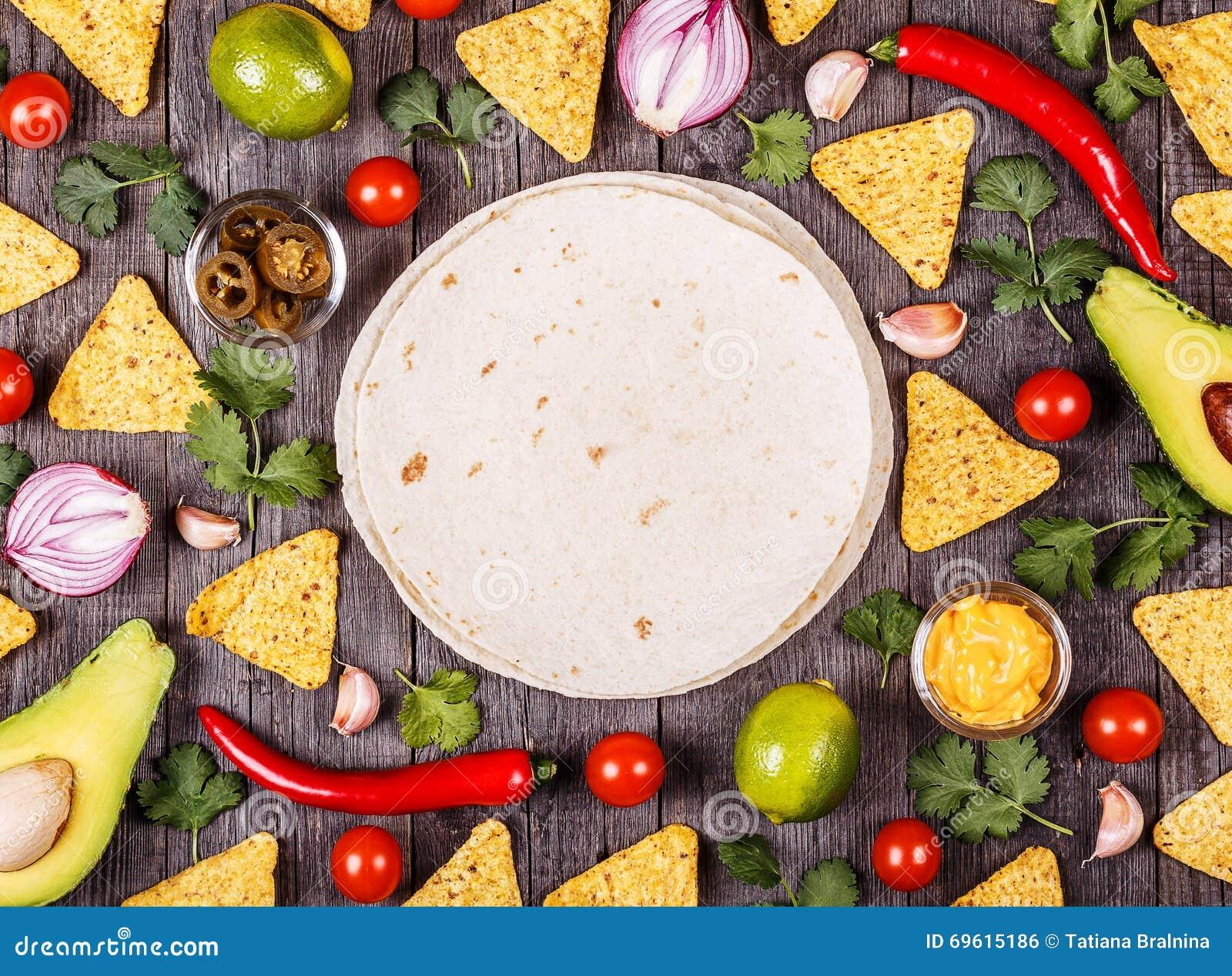 Fondo De Comida Mexicana: Concepto De Comida Mexicana, Fondo De La Comida Foto De