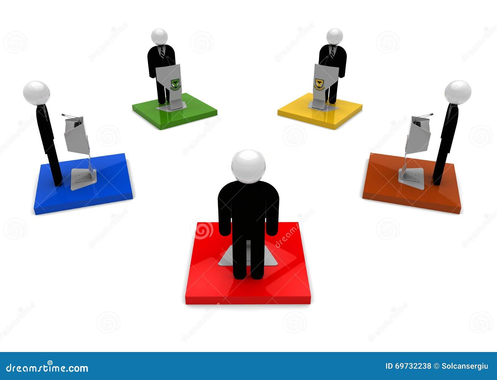 Concepto de Debate del líder