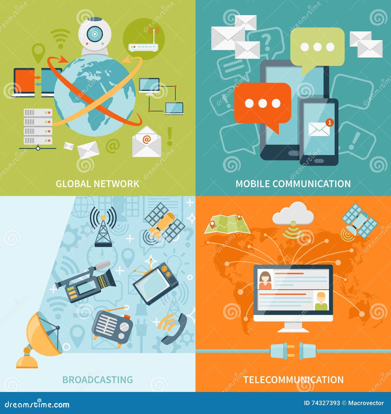 Concepto de diseño de la telecomunicación 2x2