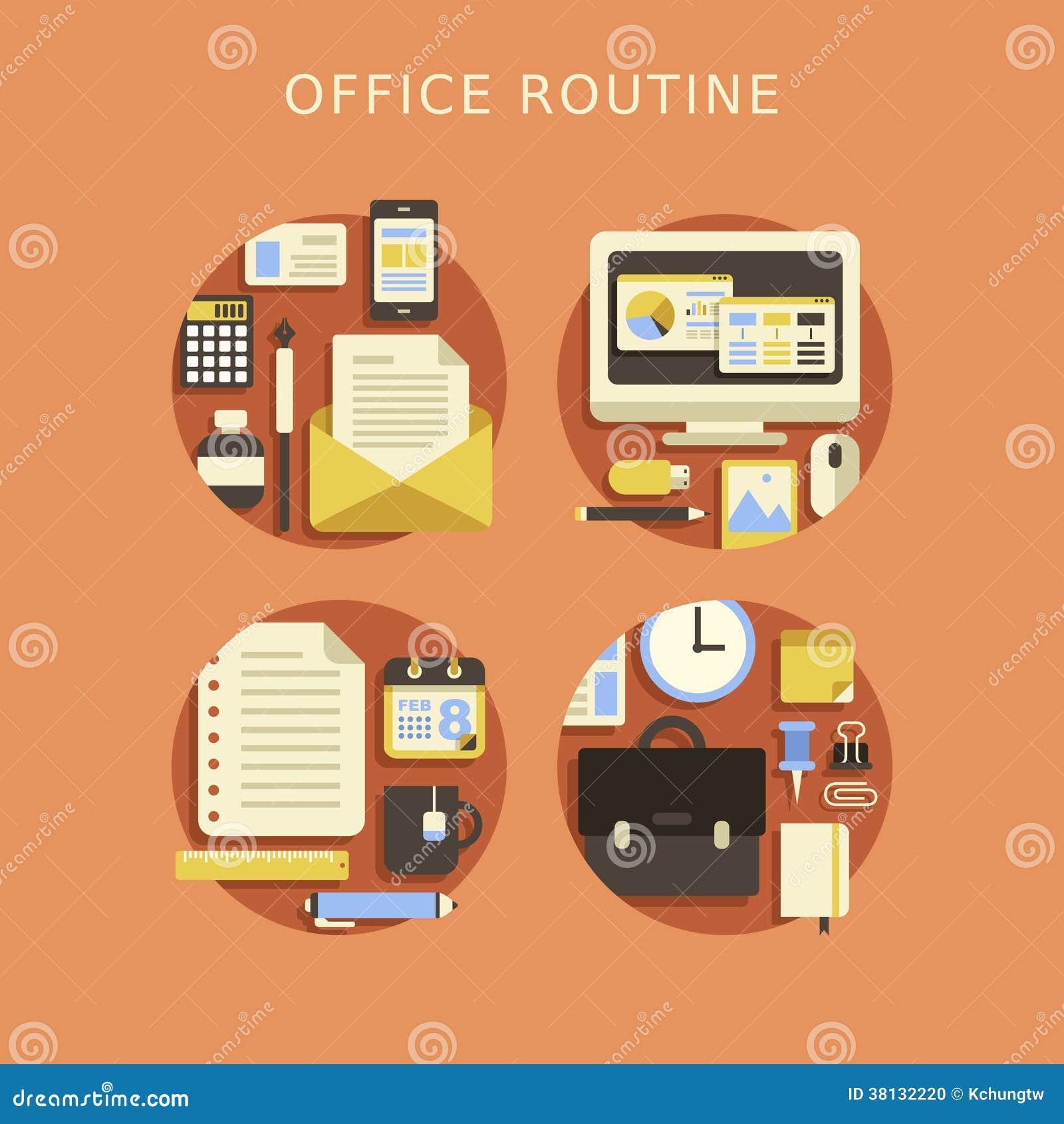 Concepto de dise o plano de la oficina rutinaria foto de for Concepto de oficina