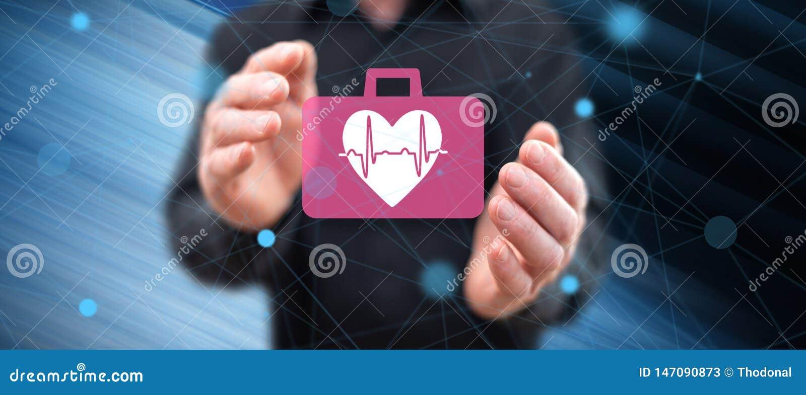 Concepto de emergencia cardiaca
