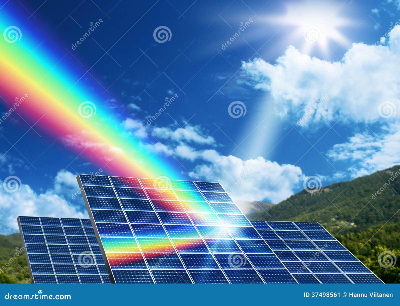 Concepto De Energía Solar De La Energía Renovable Imagen de ...