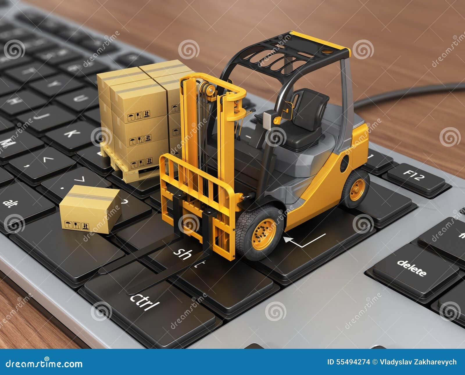 Concepto de entrega, de envío o de logística