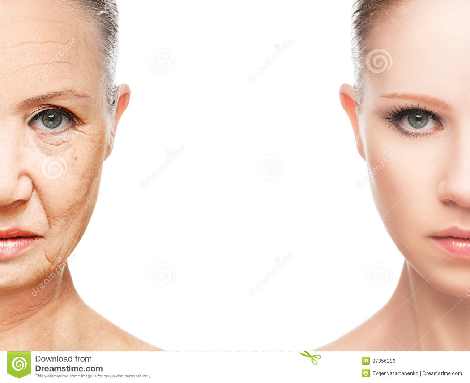 Concepto de envejecimiento y de cuidado de piel
