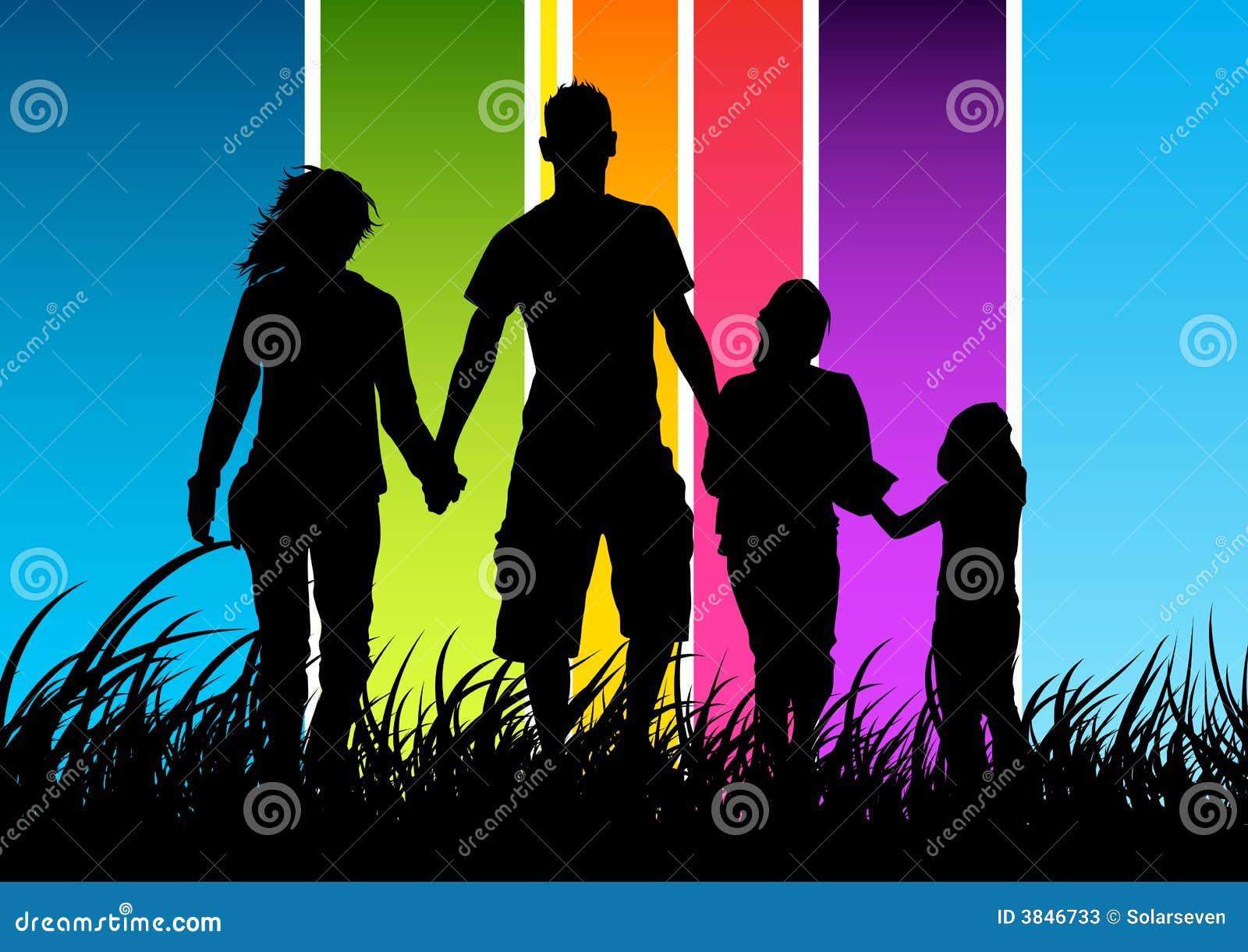 Concepto de familia feliz