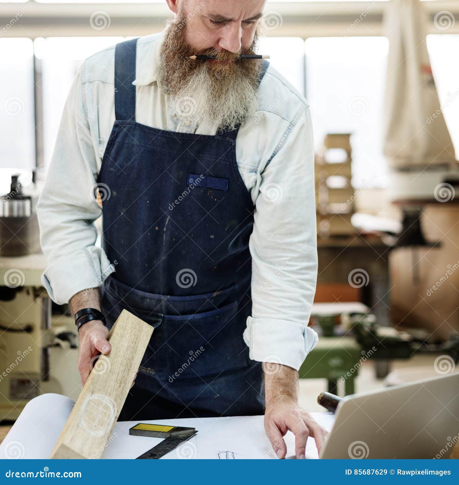 Concepto de Handicraft Wooden Workshop del artesano del carpintero