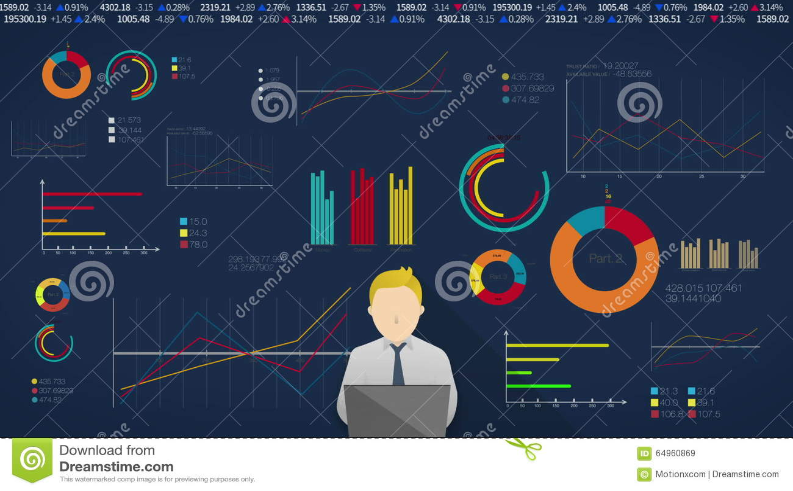 Concepto De Hombre De Pensamiento Para La Presentación Financiera ...