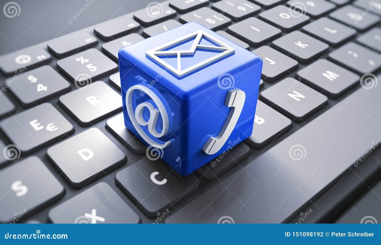 Concepto de iconos de la comunicación - ejemplo 3D
