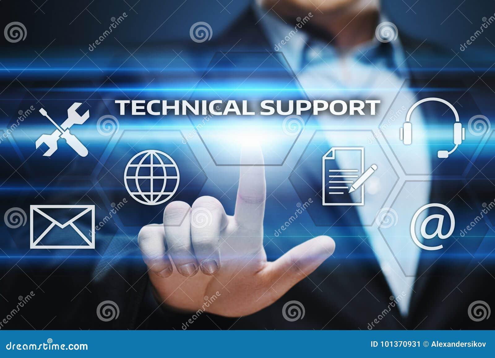 Concepto de Internet de la tecnología del negocio de servicio de atención al cliente del soporte técnico