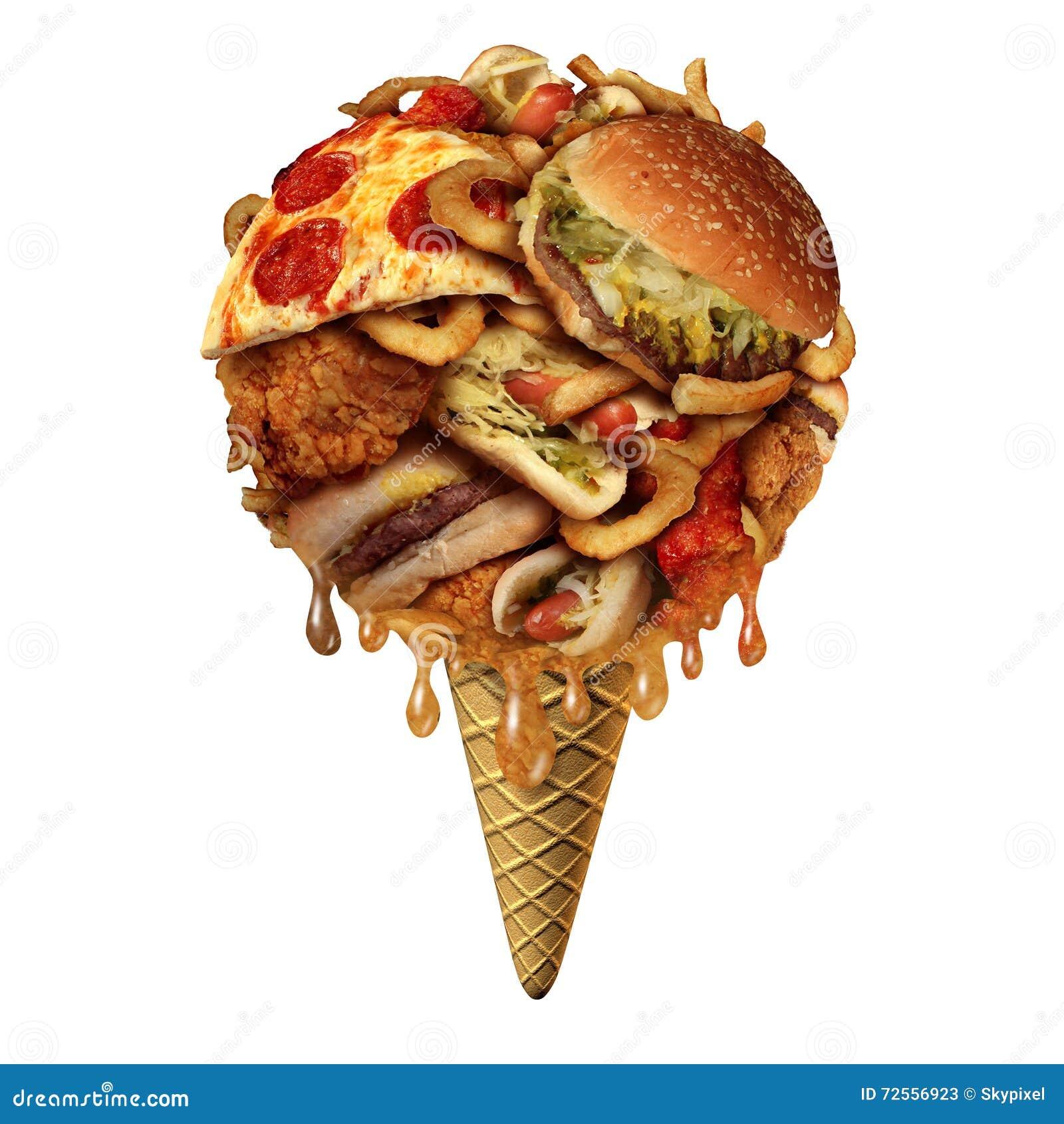Concepto de Junk Food del verano