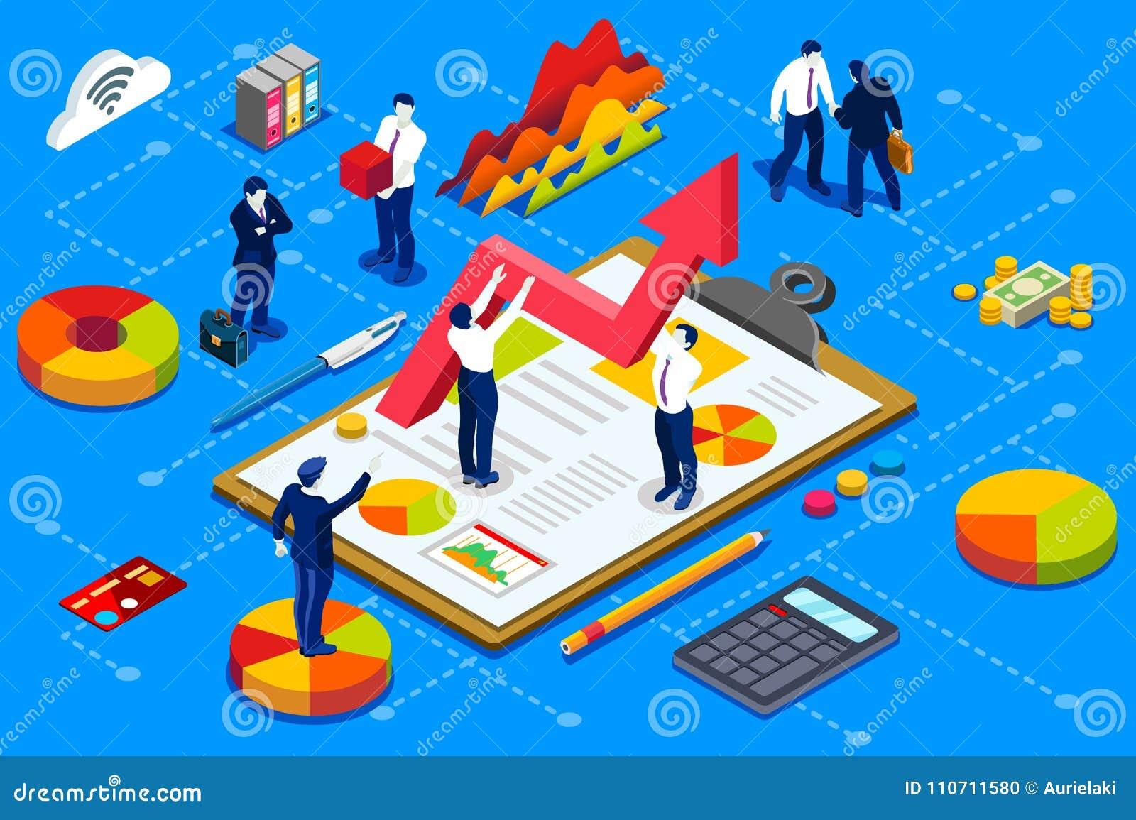 Concepto de la administración de la cuenta de compañía financiera