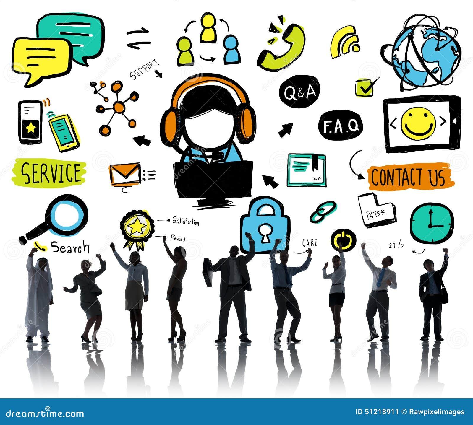 concepto de la ayuda de la solución de los servicios a empresas de la ayuda  del servicio de atención al cliente stock de ilustración - ilustración de  contacto, concepto: 51218911  dreamstime
