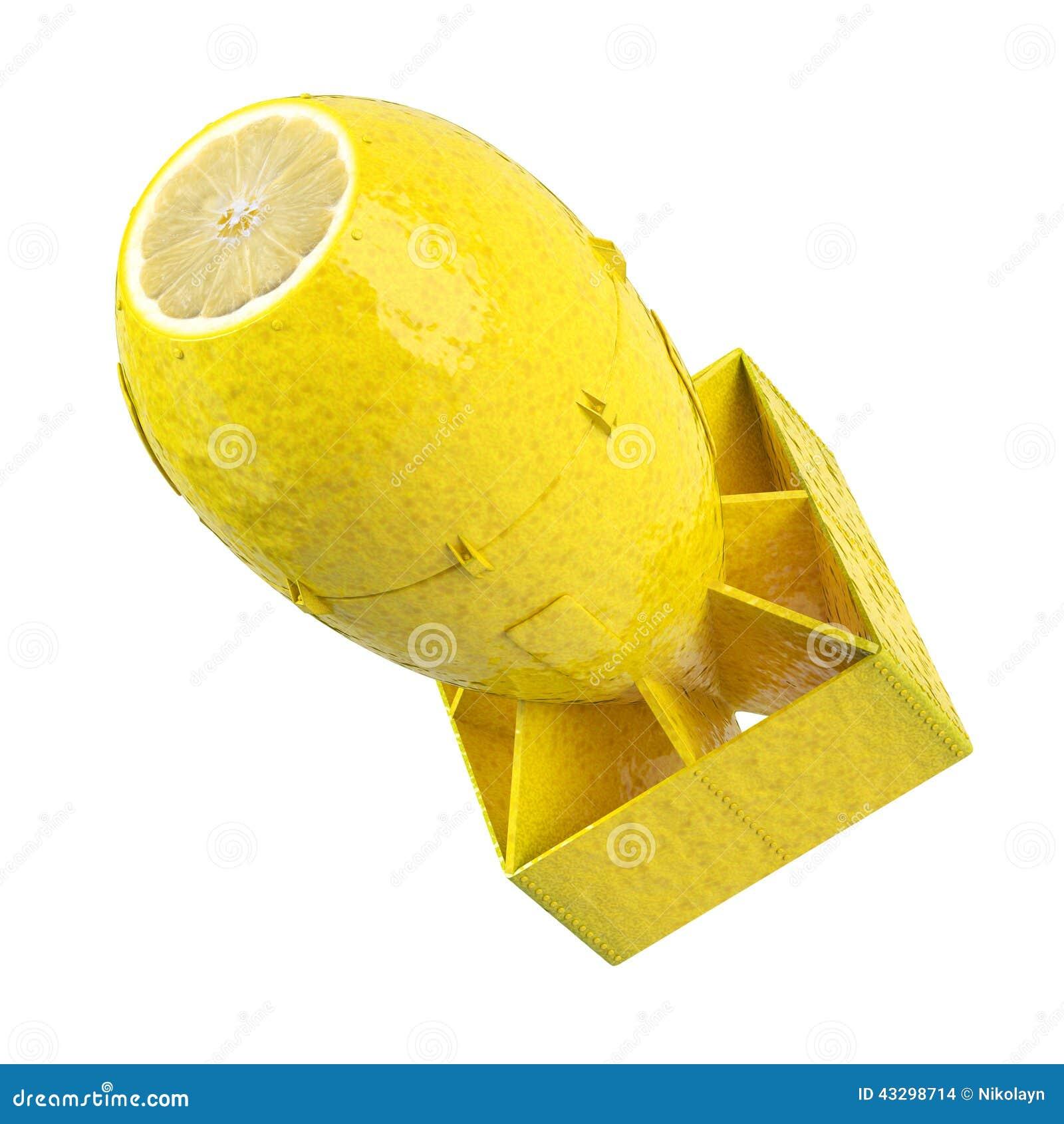 Concepto de la bomba del limón