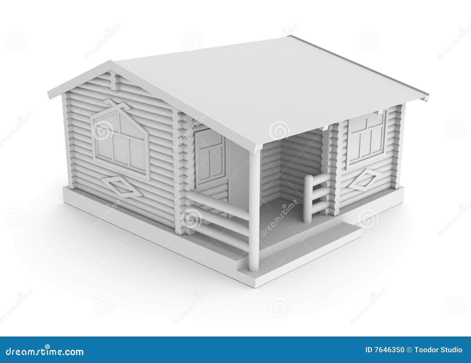 Concepto de la casa de madera foto de archivo imagen - La casa de la madera ...