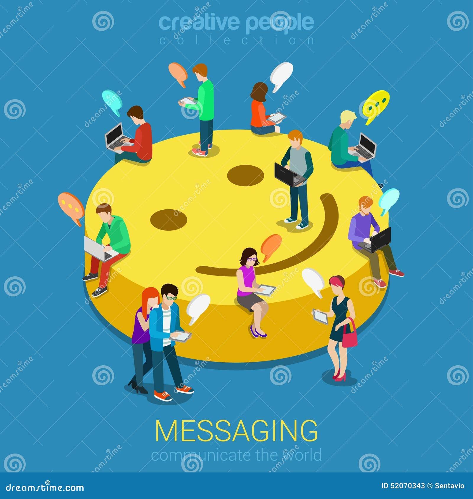 Concepto de la comunicación de la mensajería de la charla