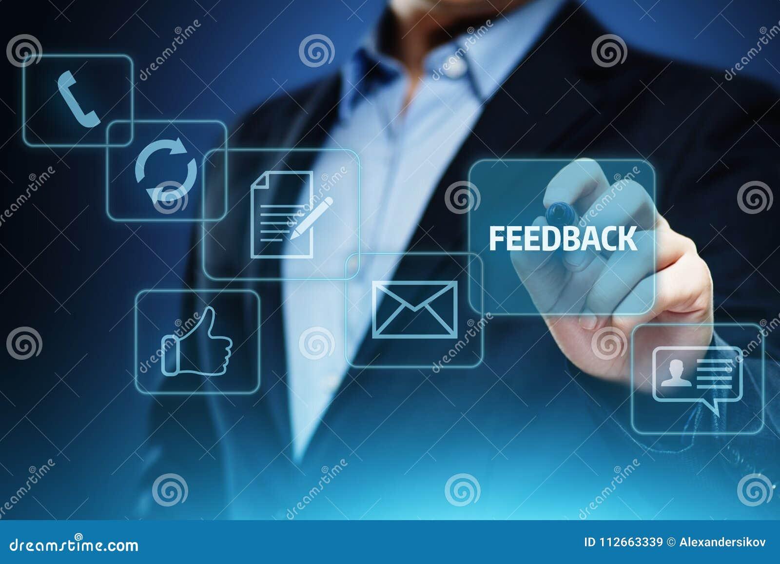 Concepto de la comunicación del servicio de la opinión de la calidad del negocio de la reacción