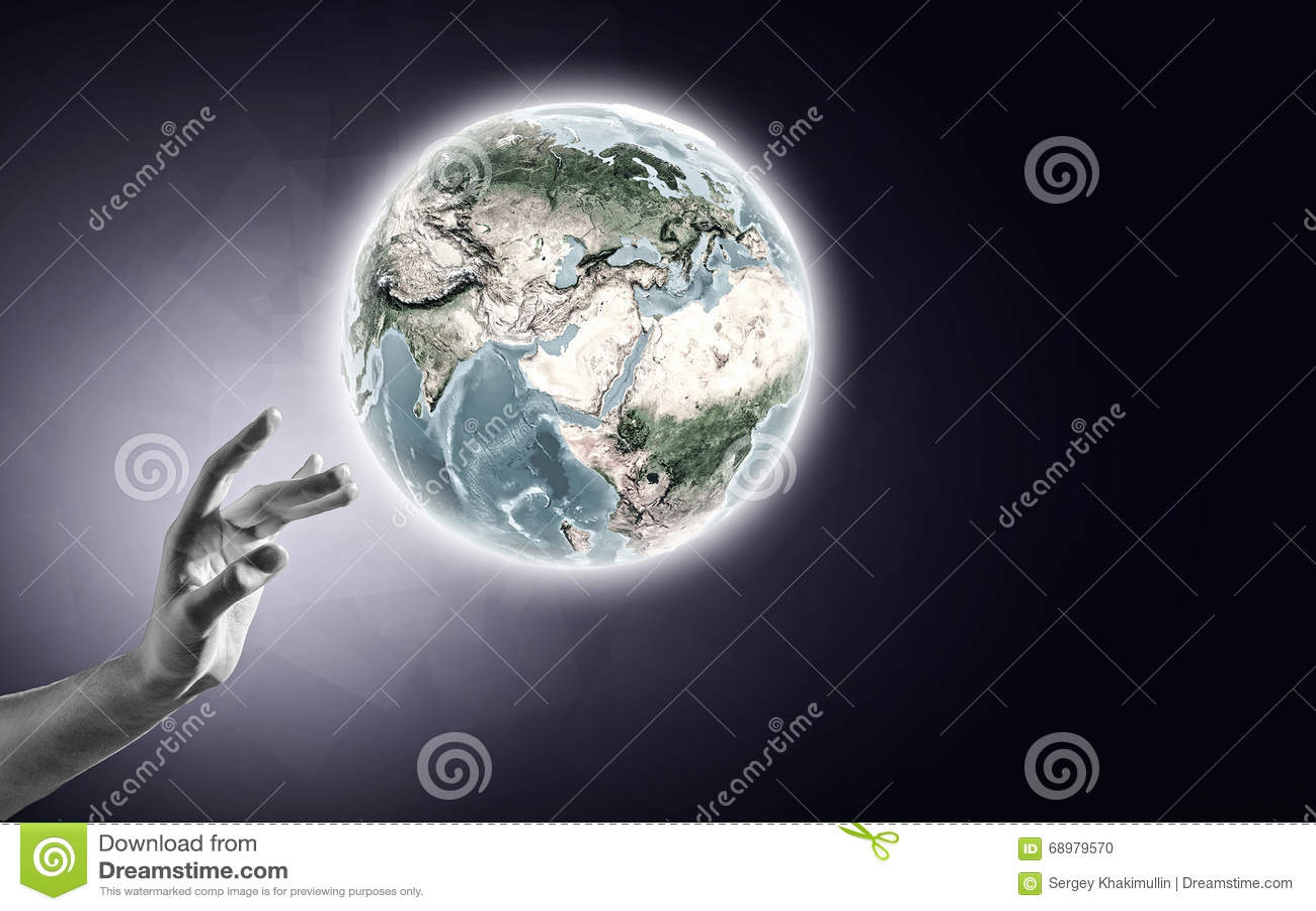 Concepto de la creación del mundo
